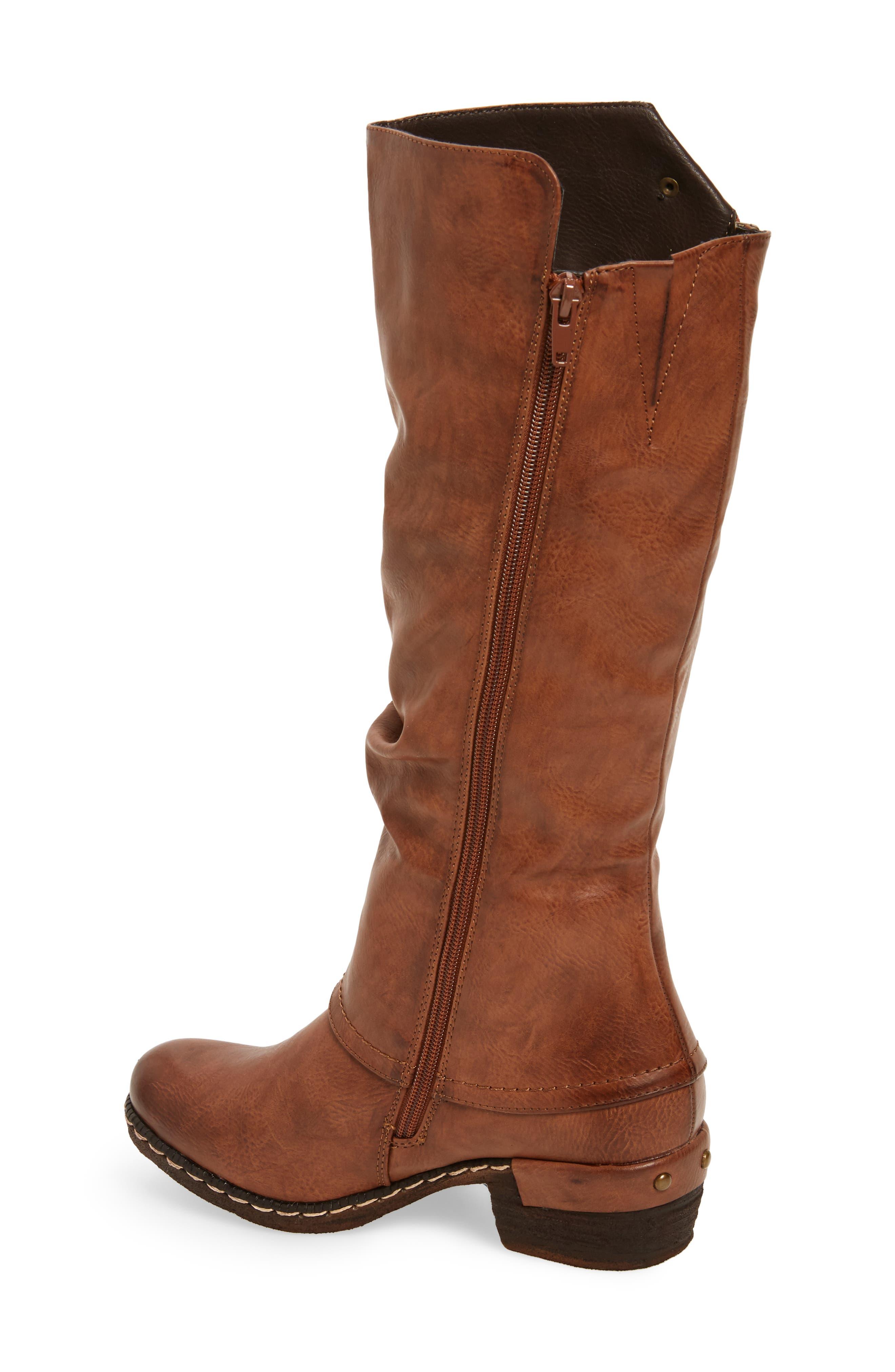 'Bernadette 55' Slightly Slouchy All Weather Boot,                             Alternate thumbnail 2, color,                             Kastanie Faux Leather
