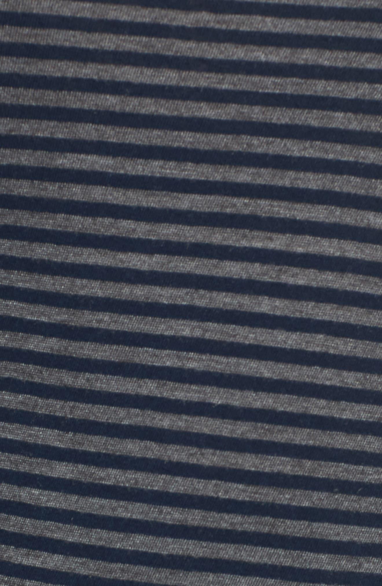 Stripe Long Layering Tank,                             Alternate thumbnail 5, color,                             Blazer Stripe