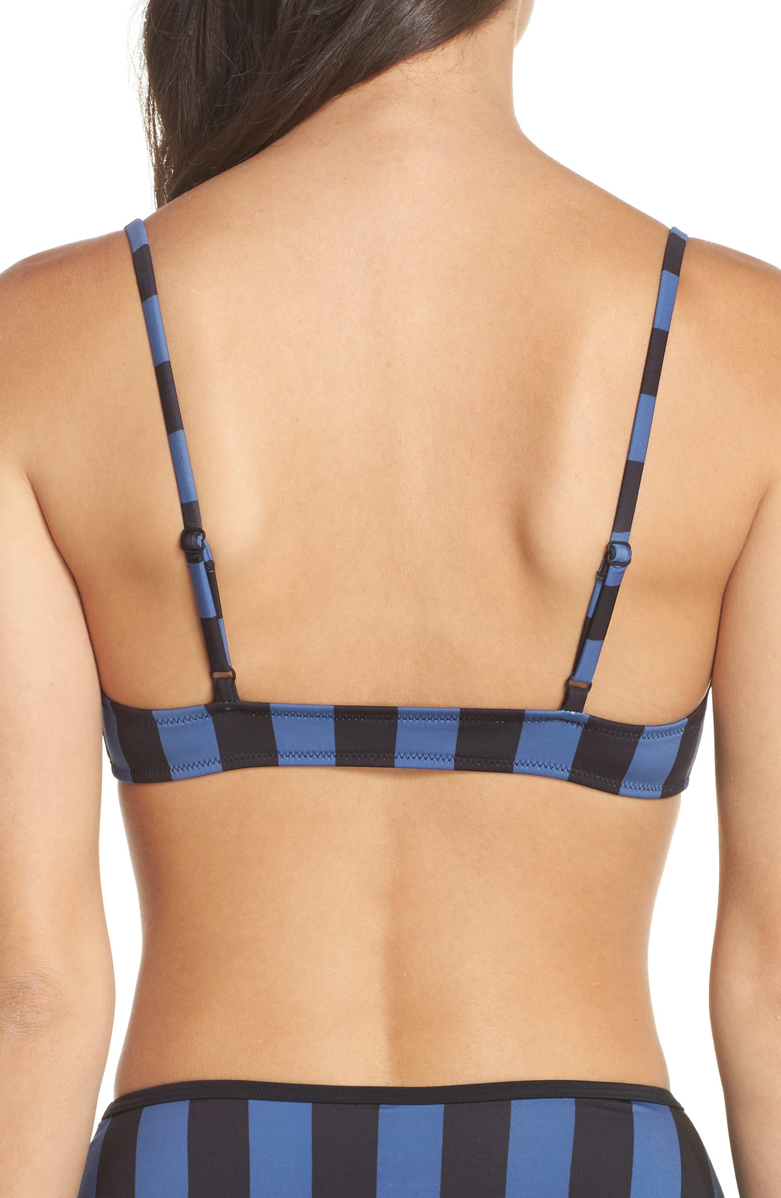 The Rachel Bikini Top,                             Alternate thumbnail 2, color,                             Black Slate Stripe