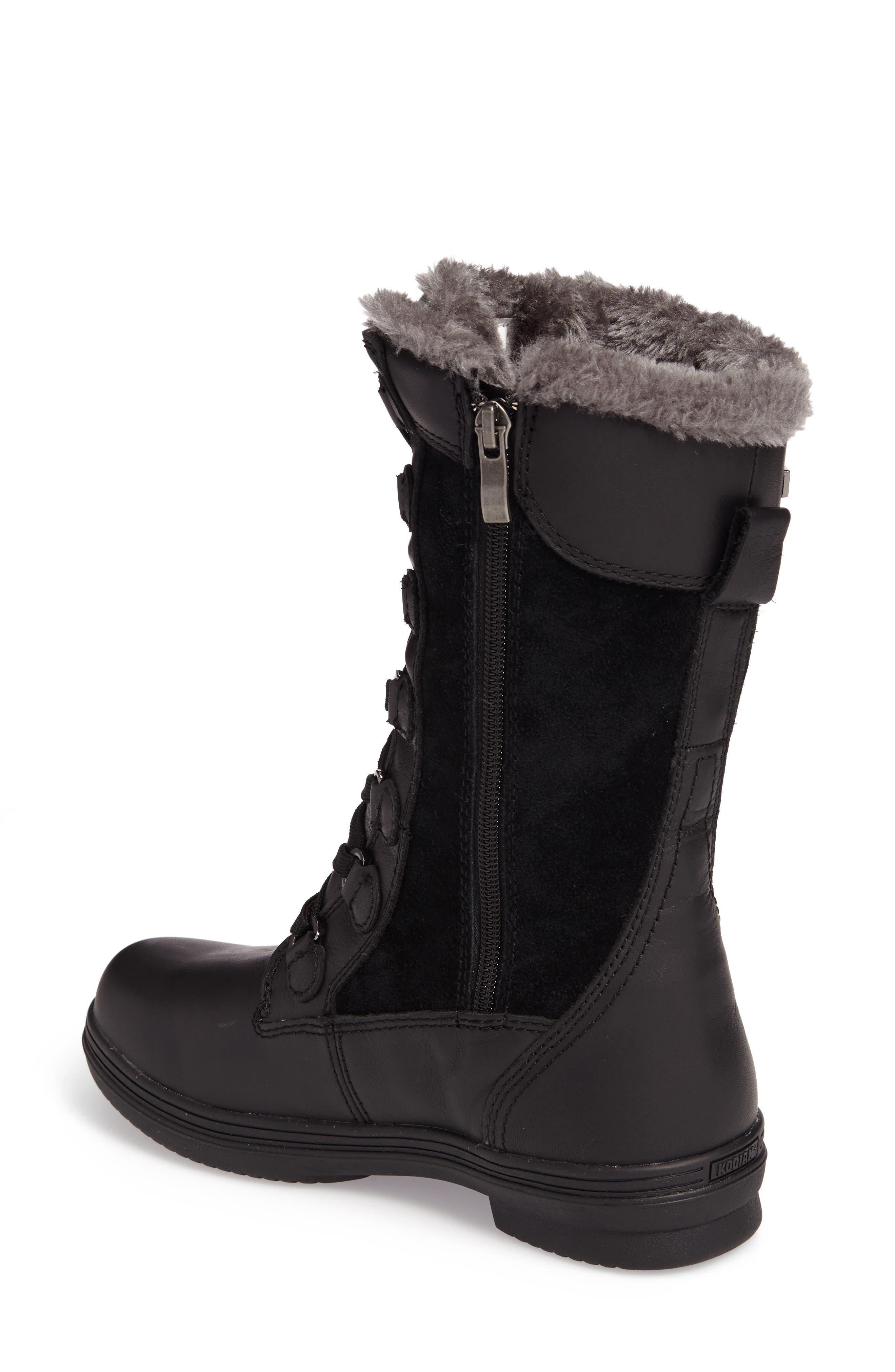 Glata Waterproof Boot,                             Alternate thumbnail 2, color,                             Black Leather