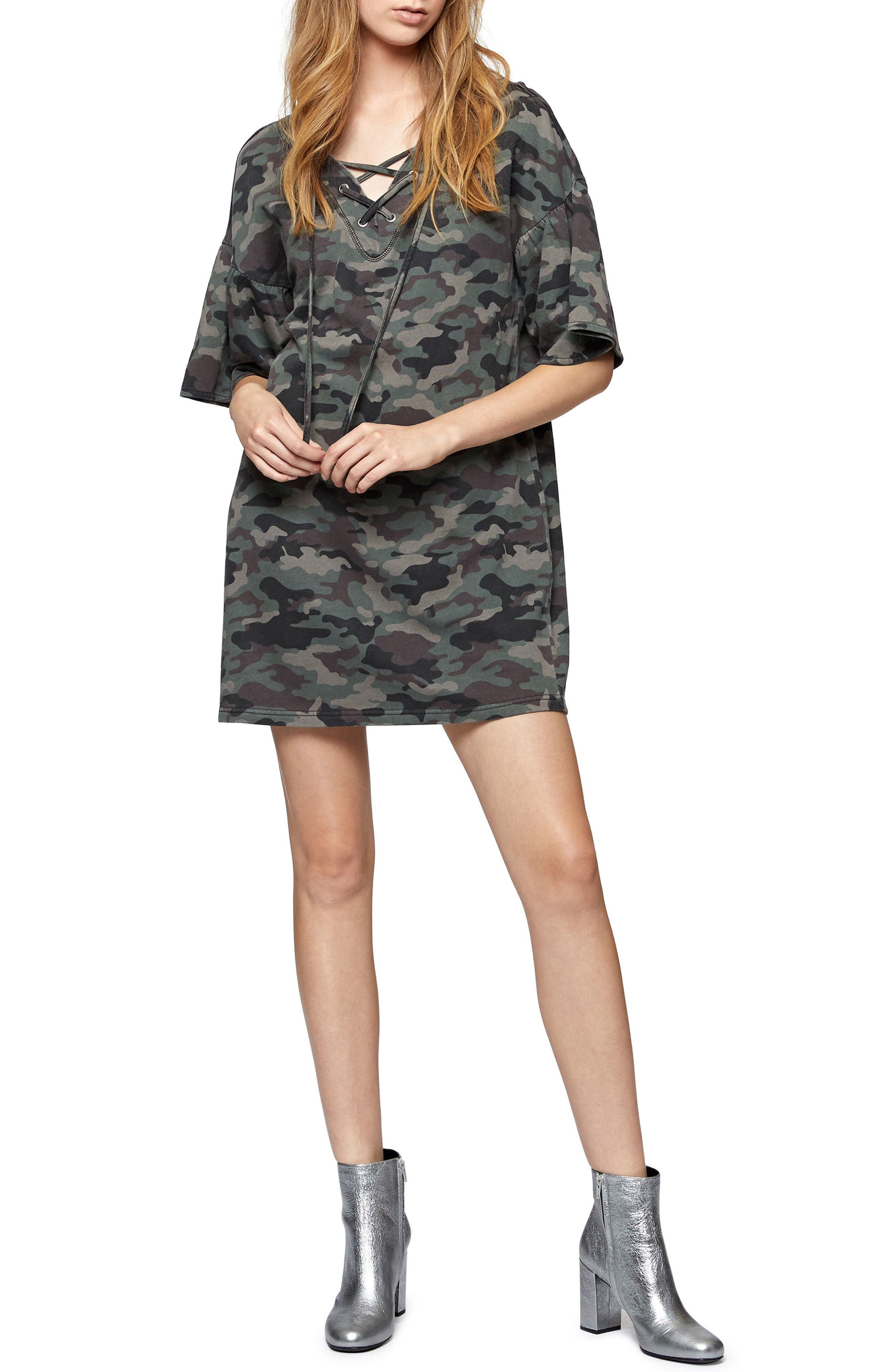 Main Image - Sanctuary Mariska Sweatshirt Dress (Regular & Petite)