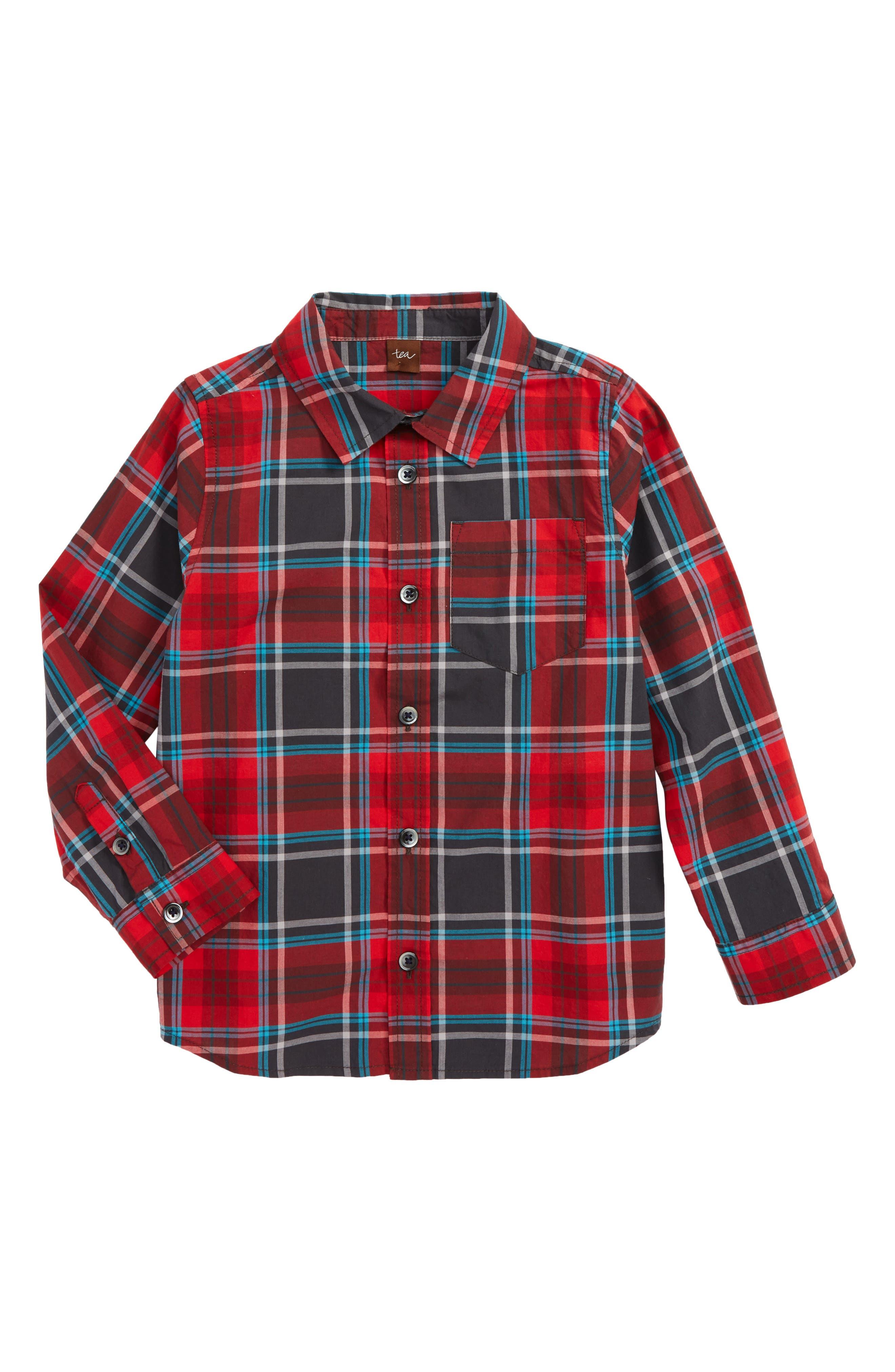 Main Image - Tea Collection Duncan Plaid Woven Shirt (Toddler Boys & Little Boys)