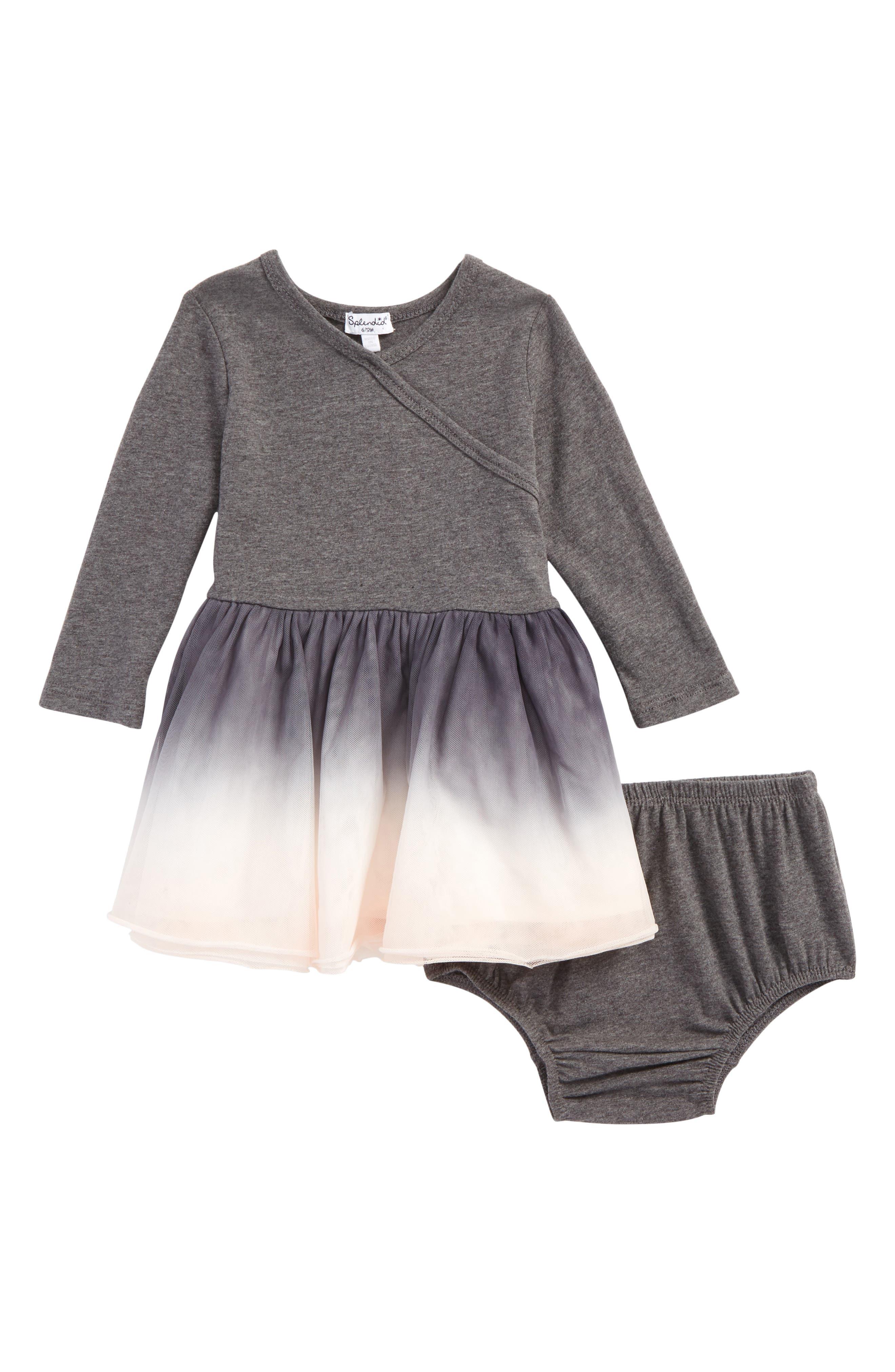 Alternate Image 1 Selected - Splendid Dip Dye Tulle Dress (Baby Girls)