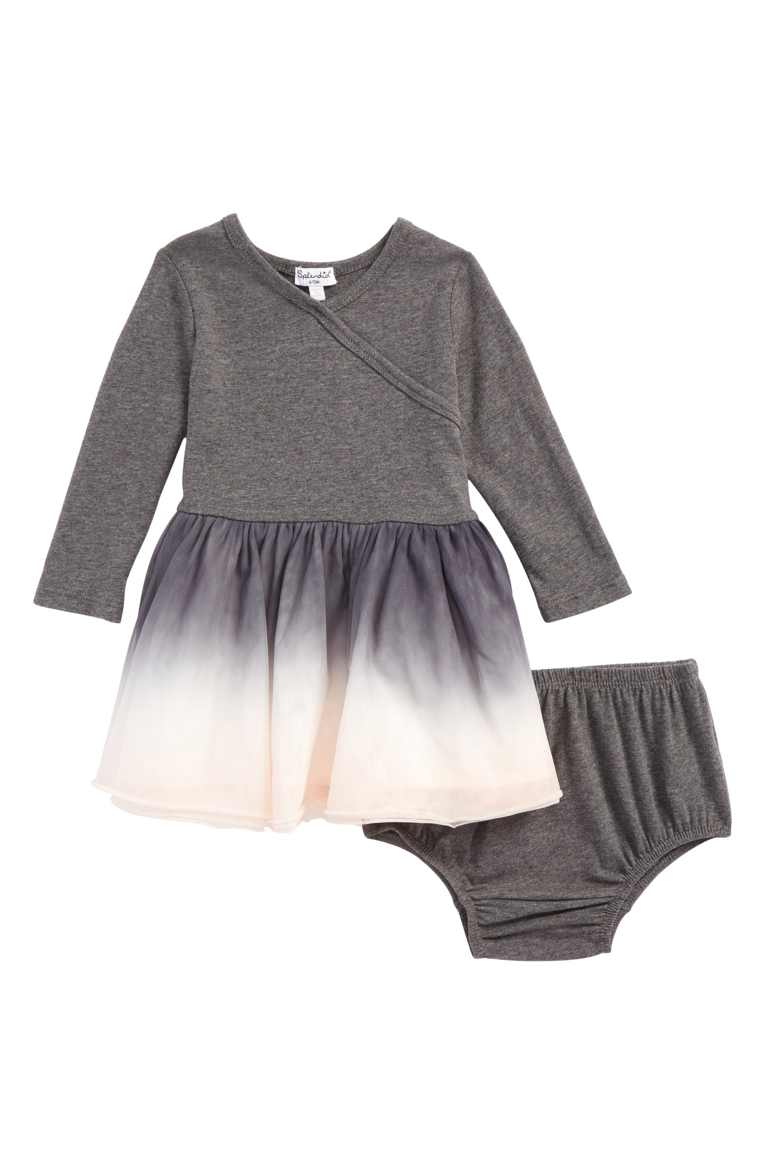 Main Image - Splendid Dip Dye Tulle Dress (Baby Girls)
