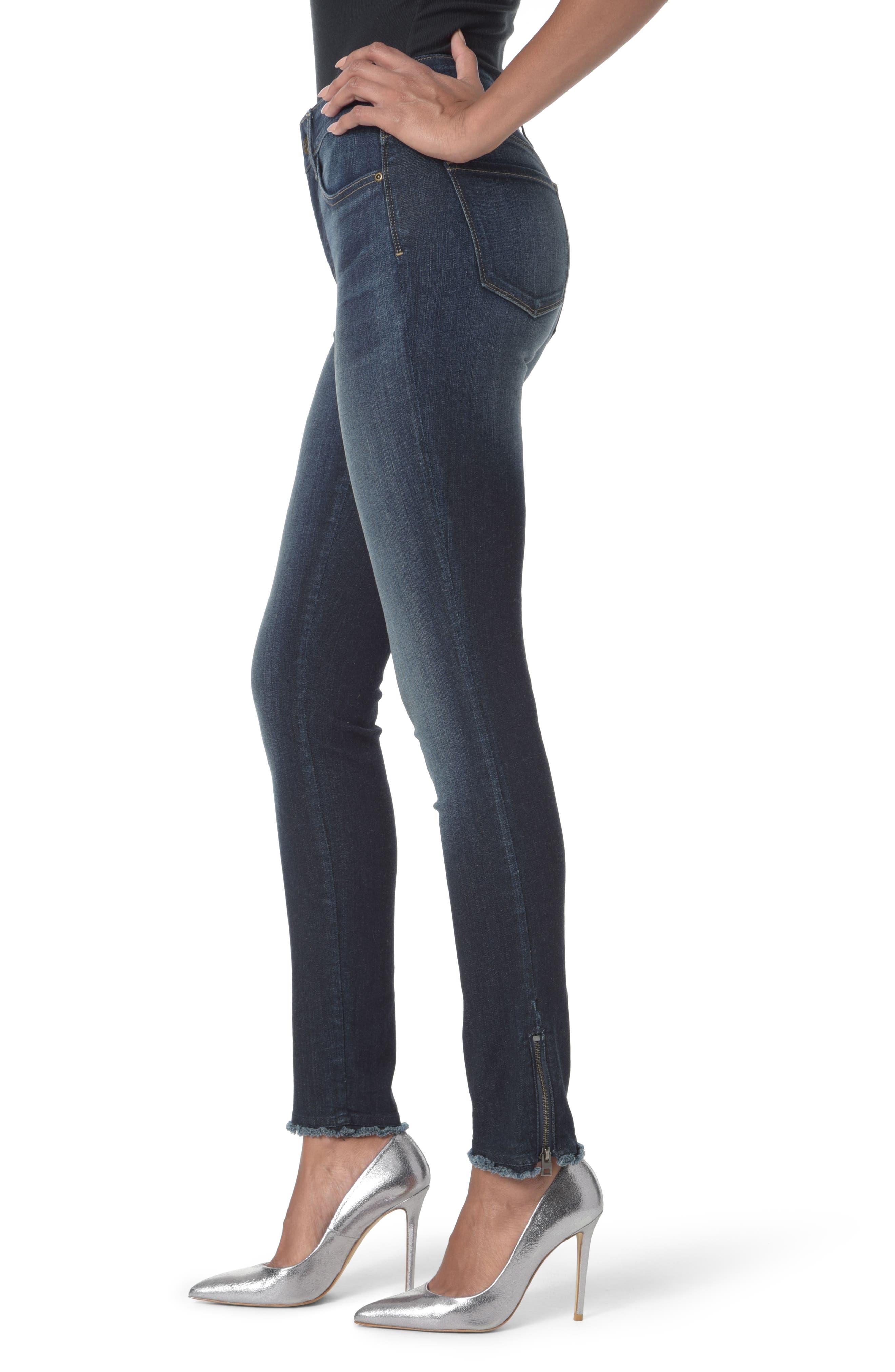 Alternate Image 3  - NYDJ Zip Hem Stretch Skinny Ankle Jeans (Bezel)