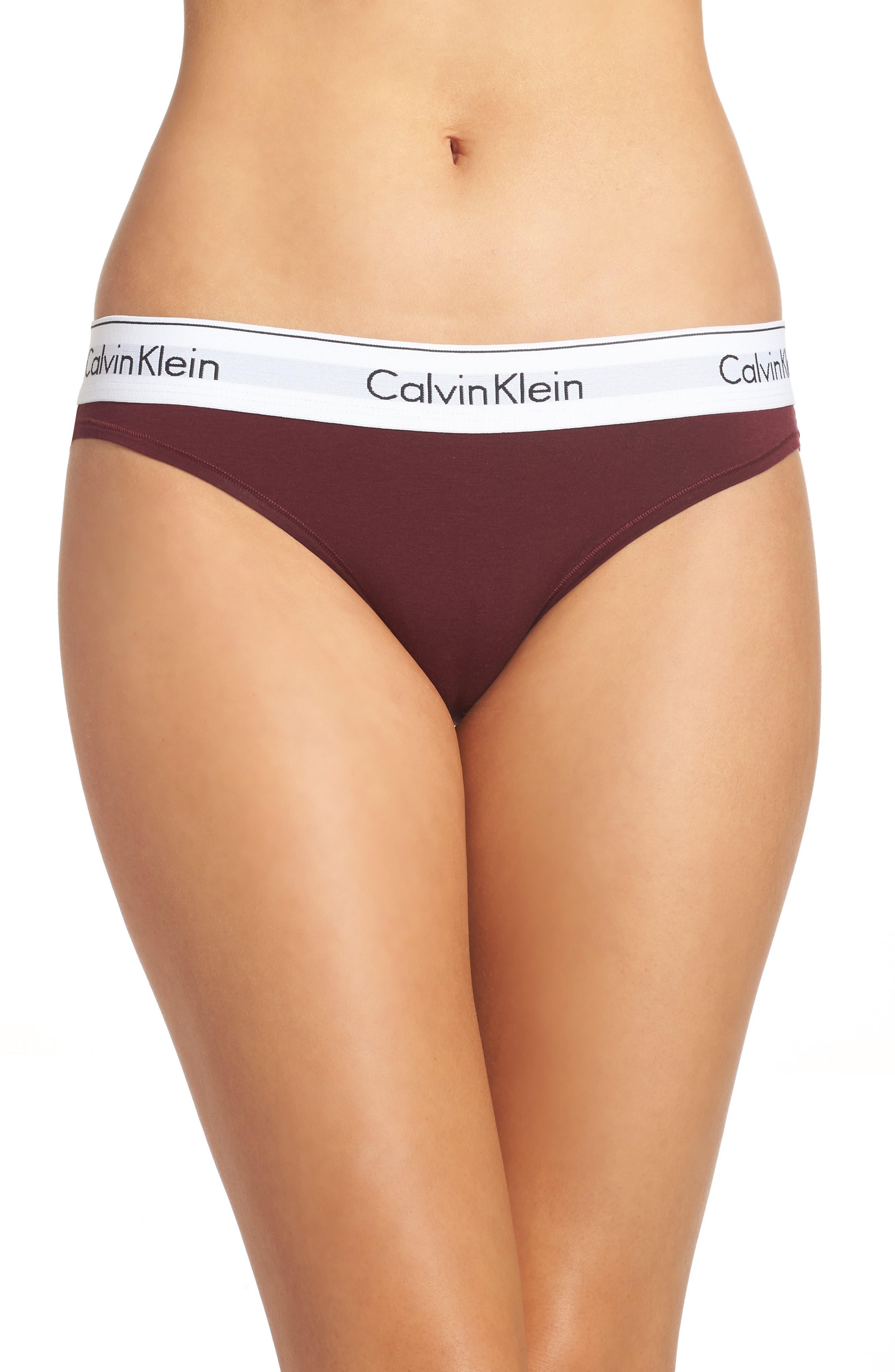 Alternate Image 1 Selected - Calvin Klein 'Modern Cotton Collection' Cotton Blend Bikini