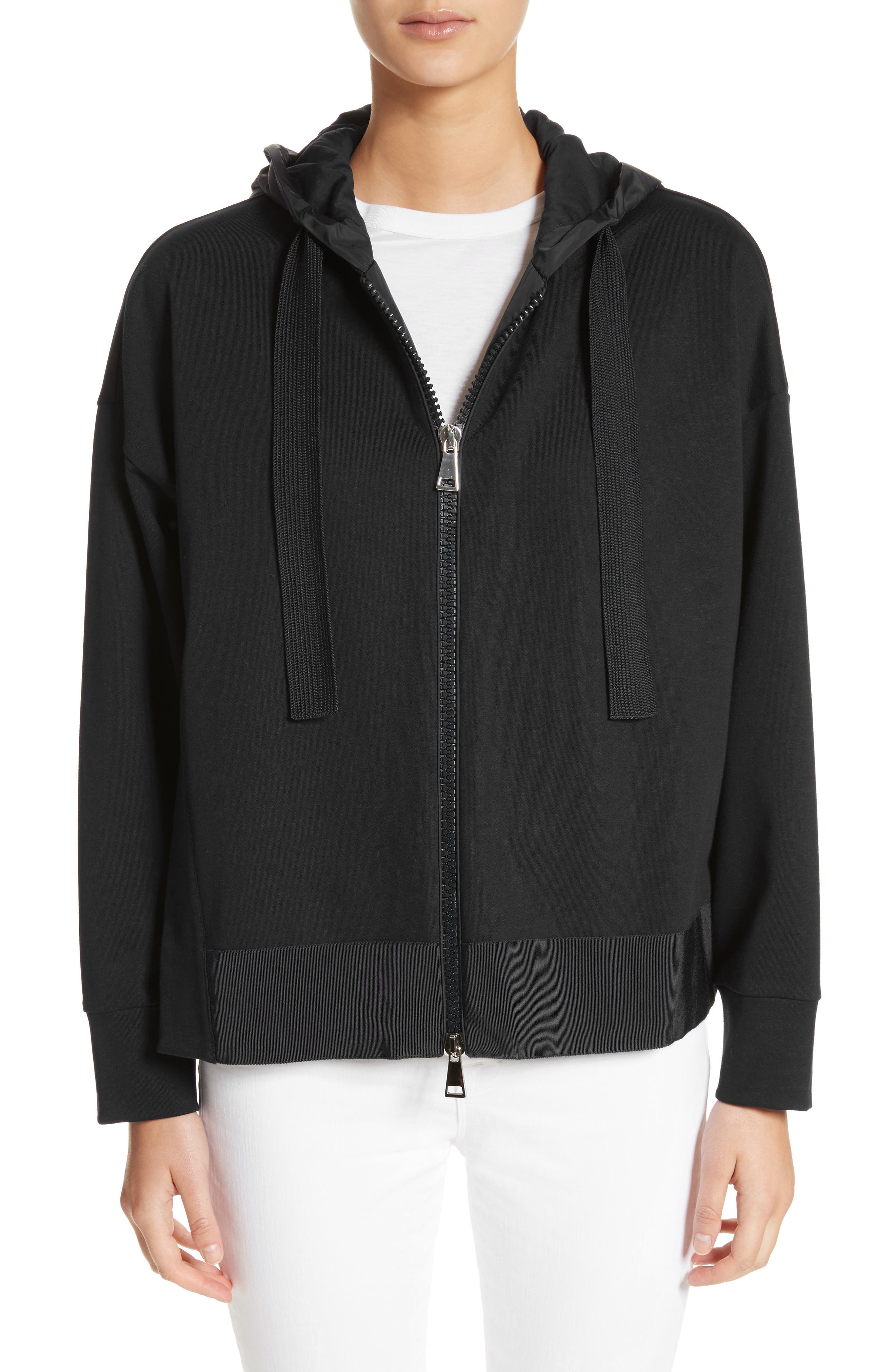 Zip Hoodie,                         Main,                         color, Black