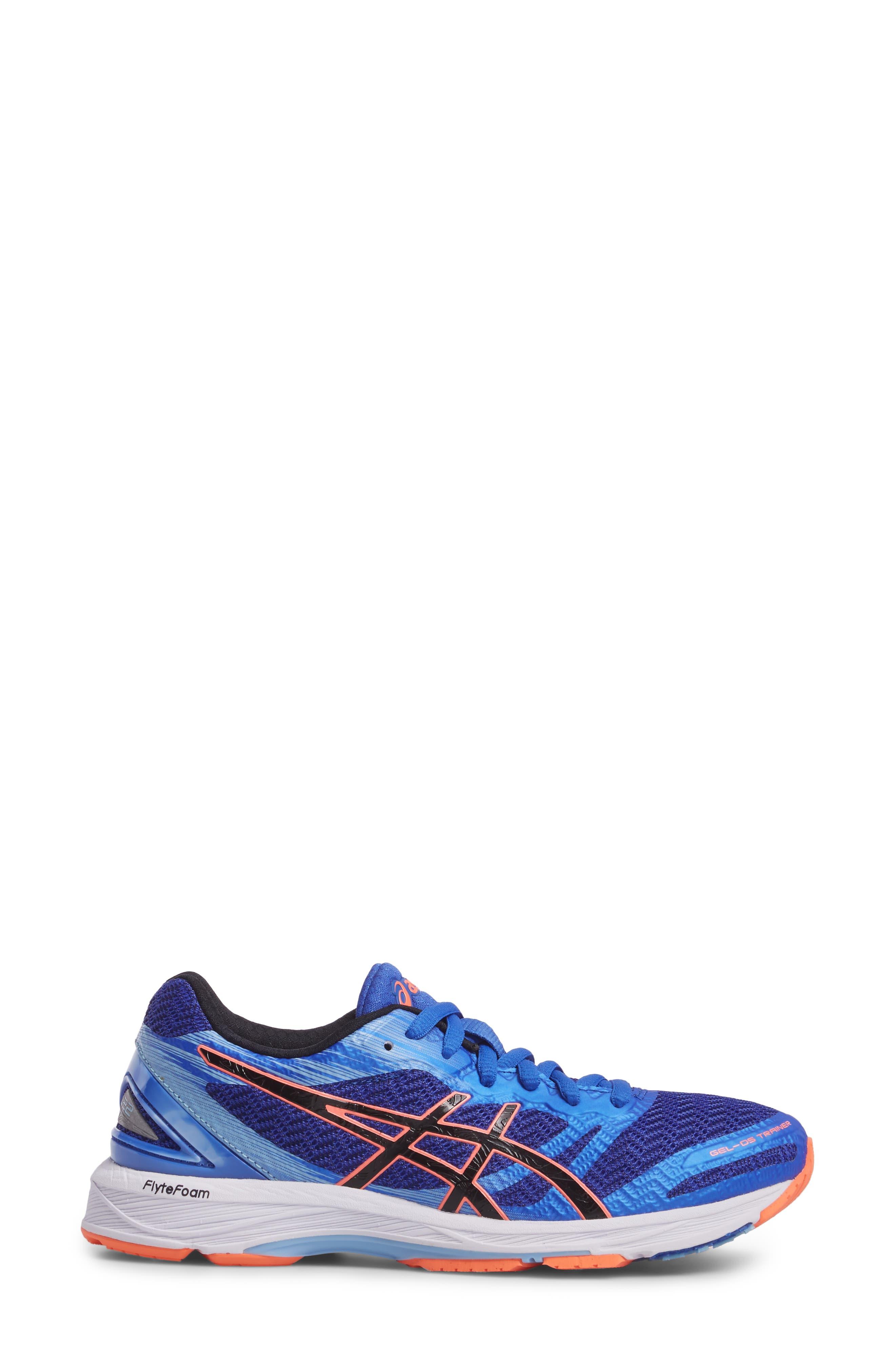GEL-DS Trainer 22 Running Shoe,                             Alternate thumbnail 3, color,                             Blue Purple/ Black/ Coral