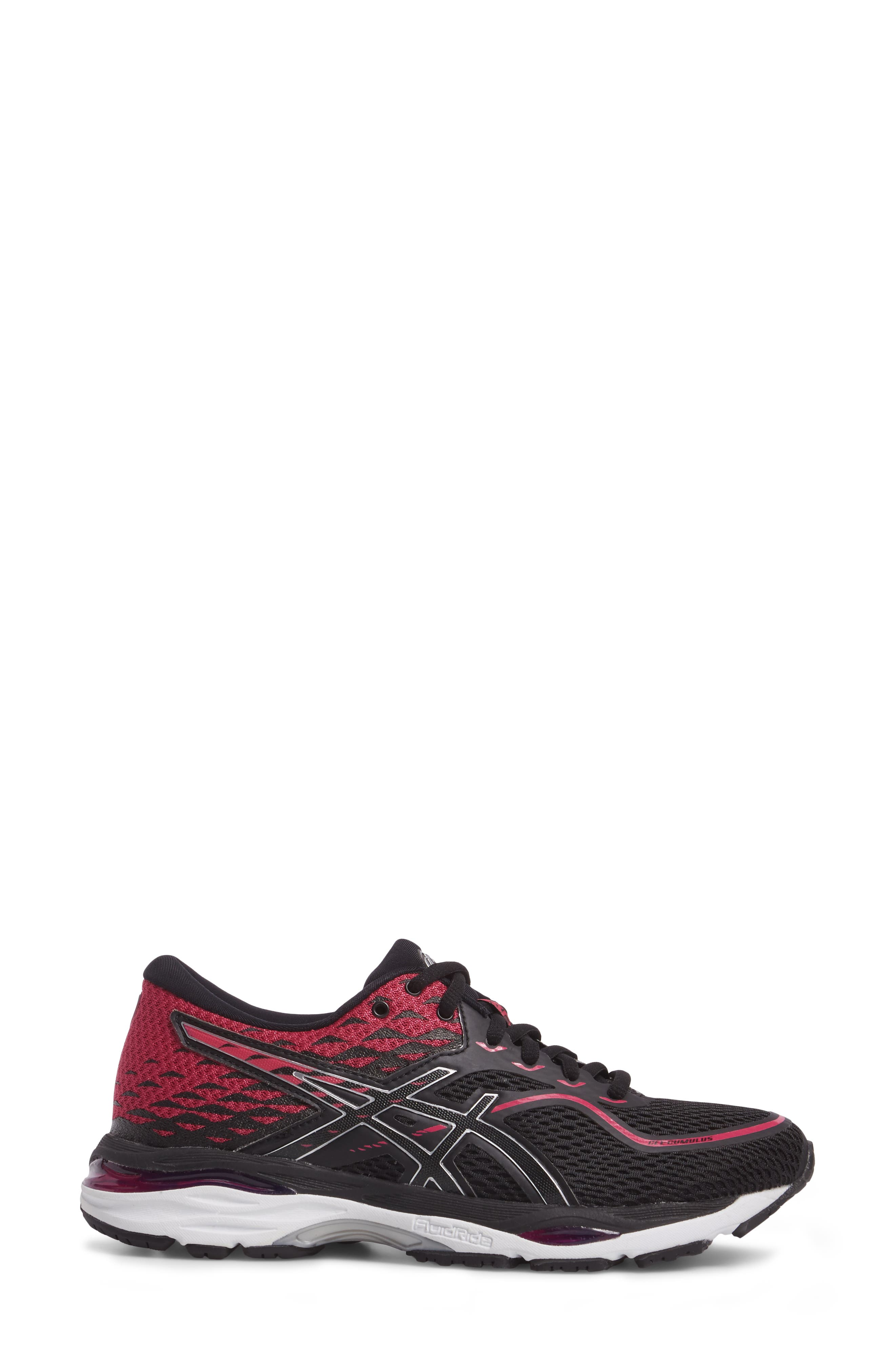 Gel Cumulus 19 2A Running Shoe,                             Alternate thumbnail 3, color,                             Black/ Silver/ Pink Peacock