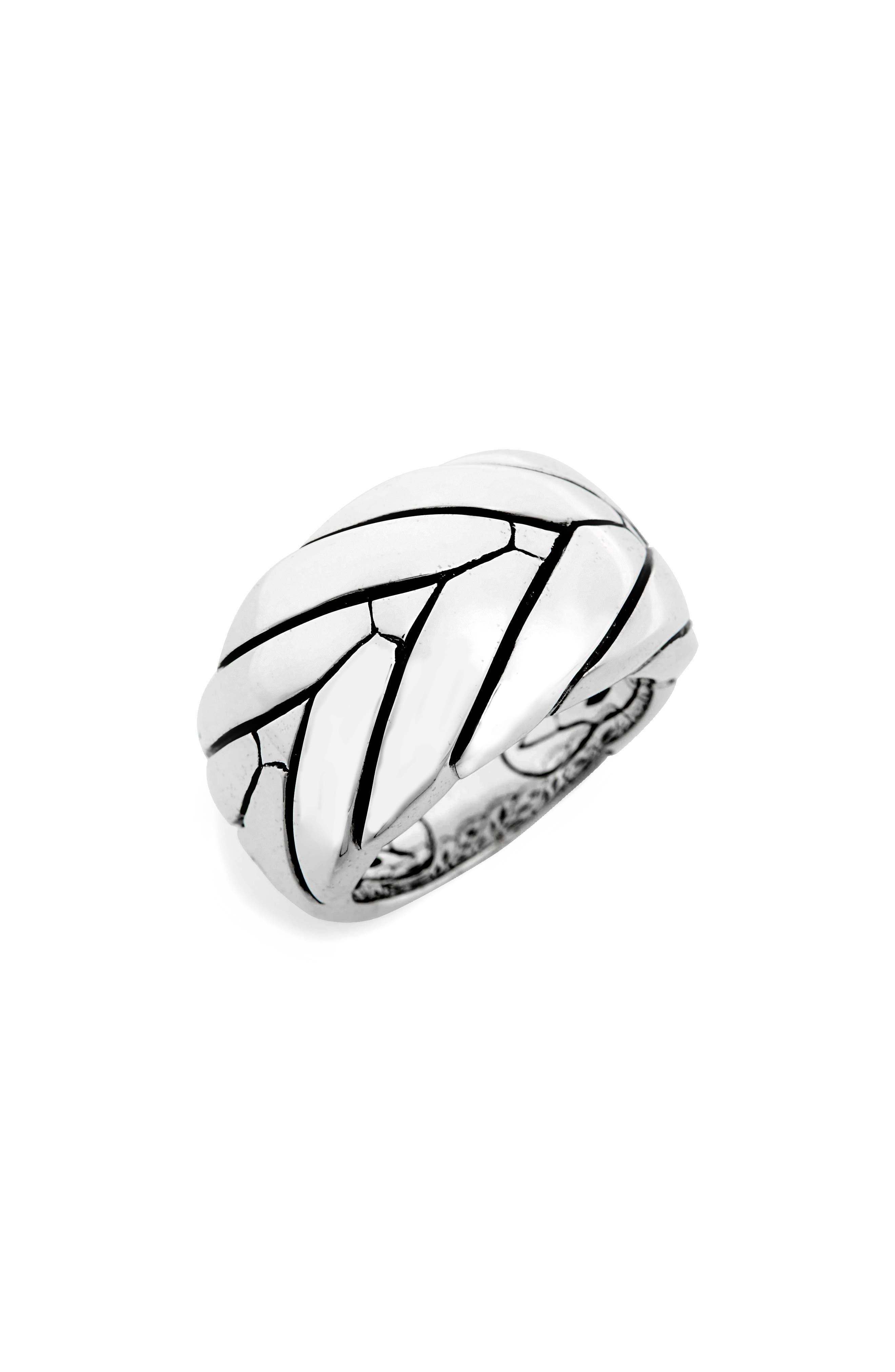 Medium Modern Chain Ring,                         Main,                         color, Silver