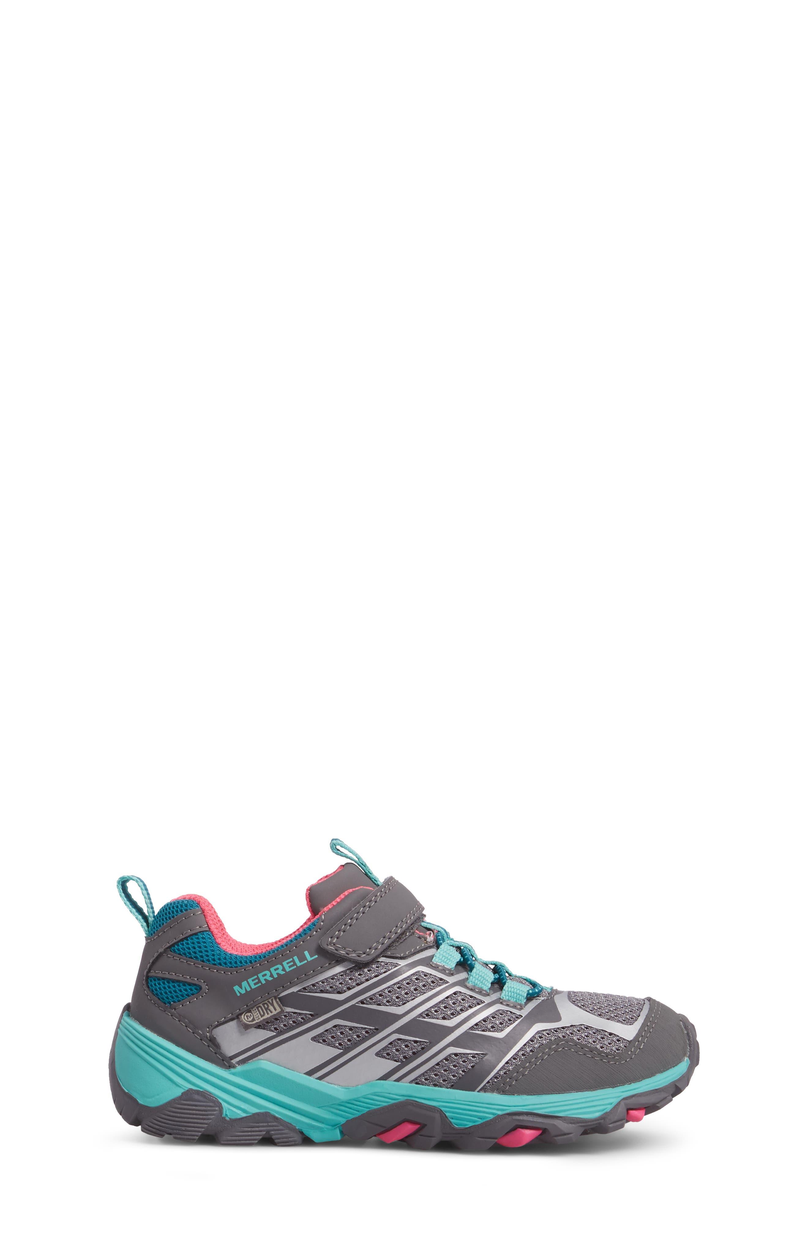 Moab FST Polar Low Waterproof Sneaker,                             Alternate thumbnail 3, color,                             Grey/ Multi