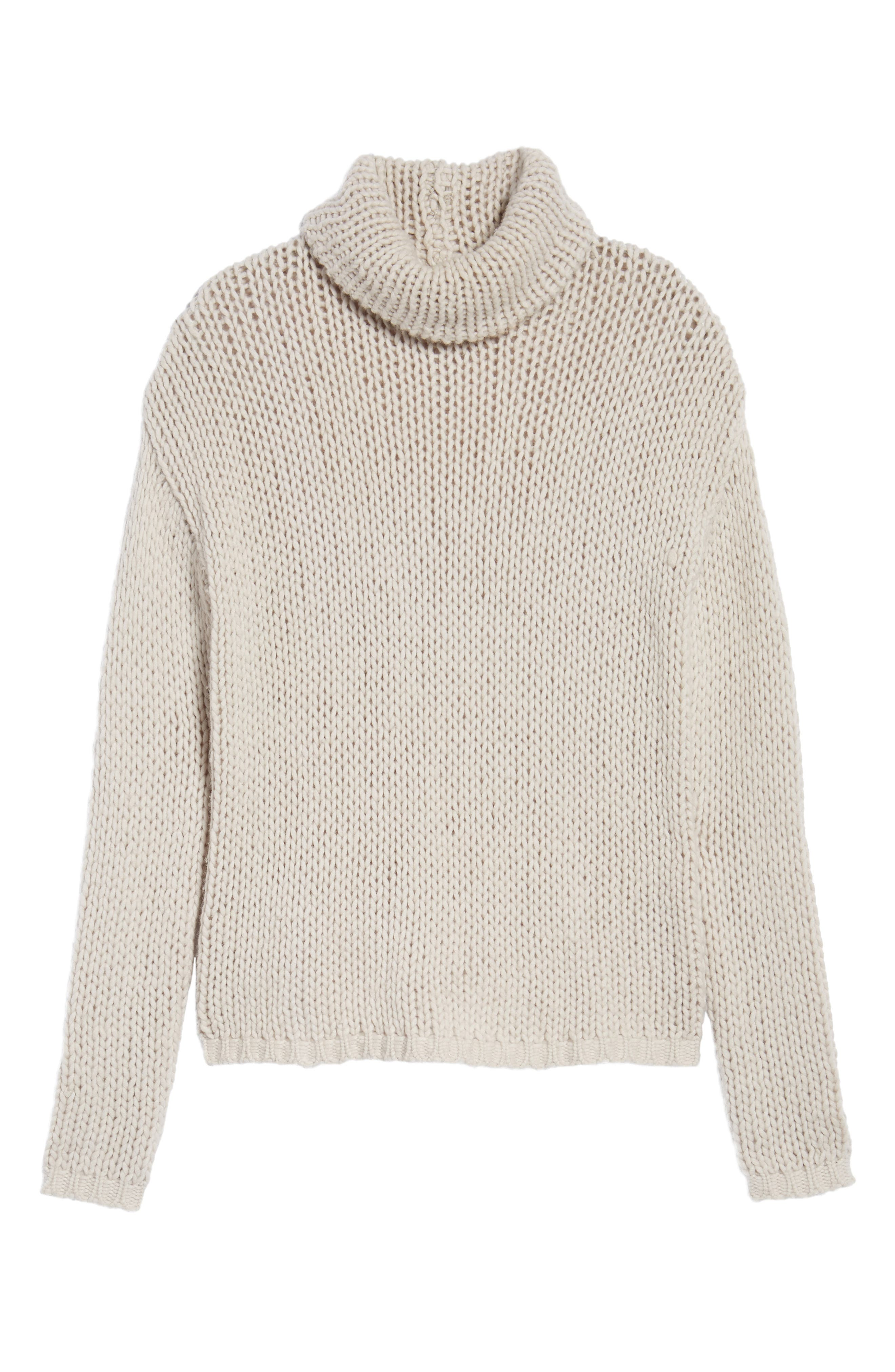Hawken Turtleneck Sweater,                             Alternate thumbnail 6, color,                             Pearl
