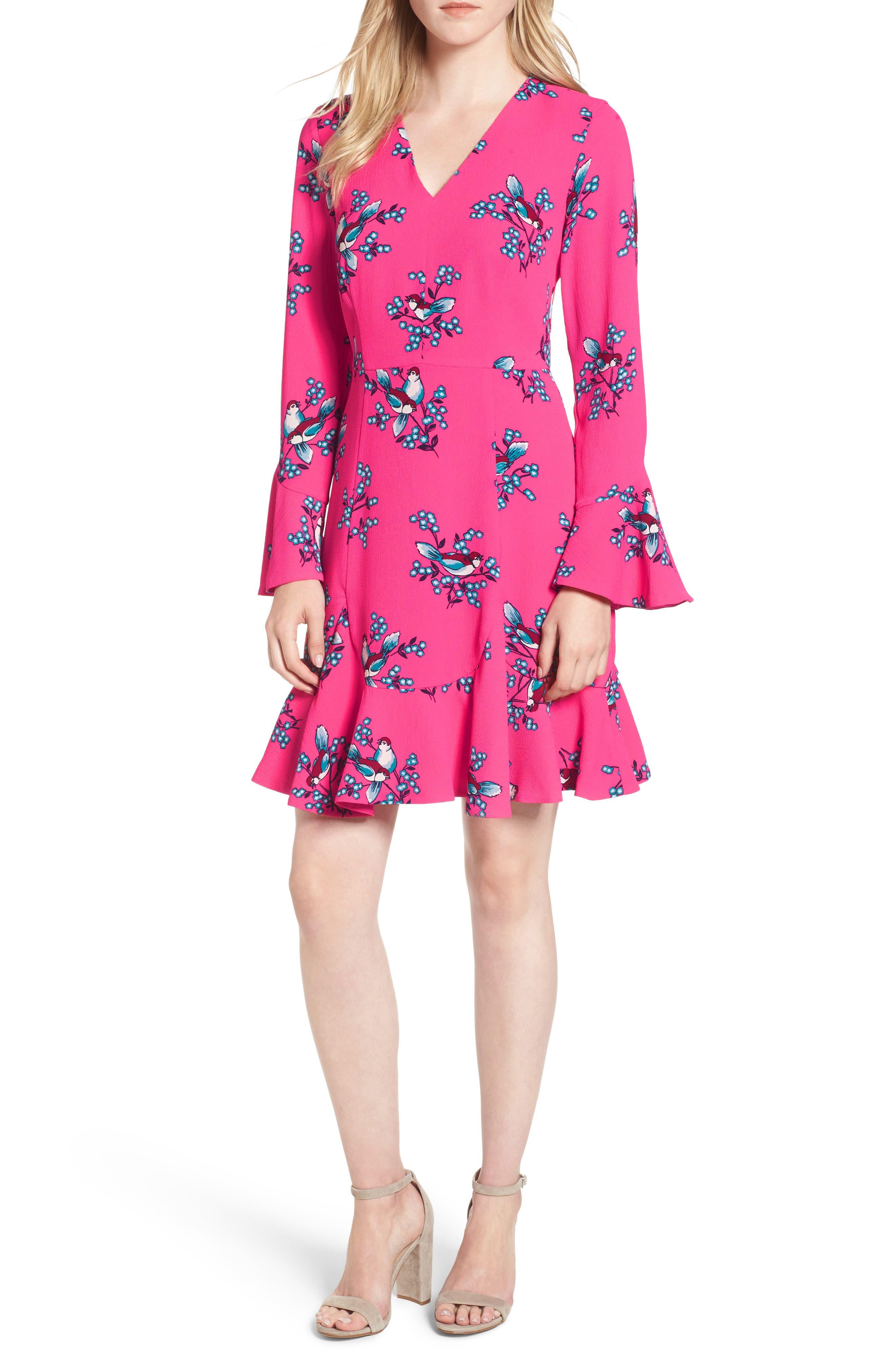 Main Image - Draper James Magnolia Mockingbird Bell Sleeve A-line Dress