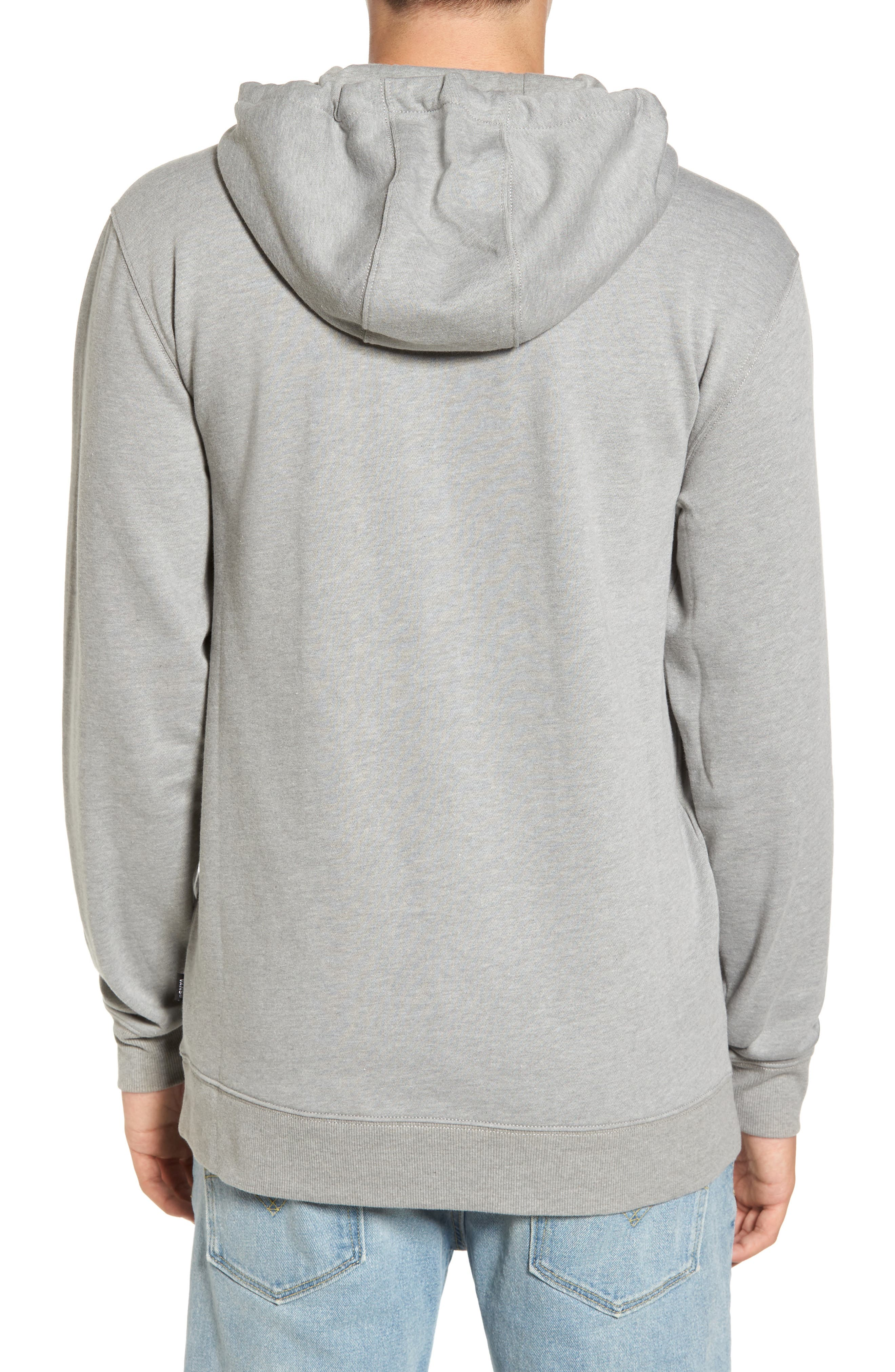 Side Striped II Hoodie,                             Alternate thumbnail 2, color,                             Cement Heather