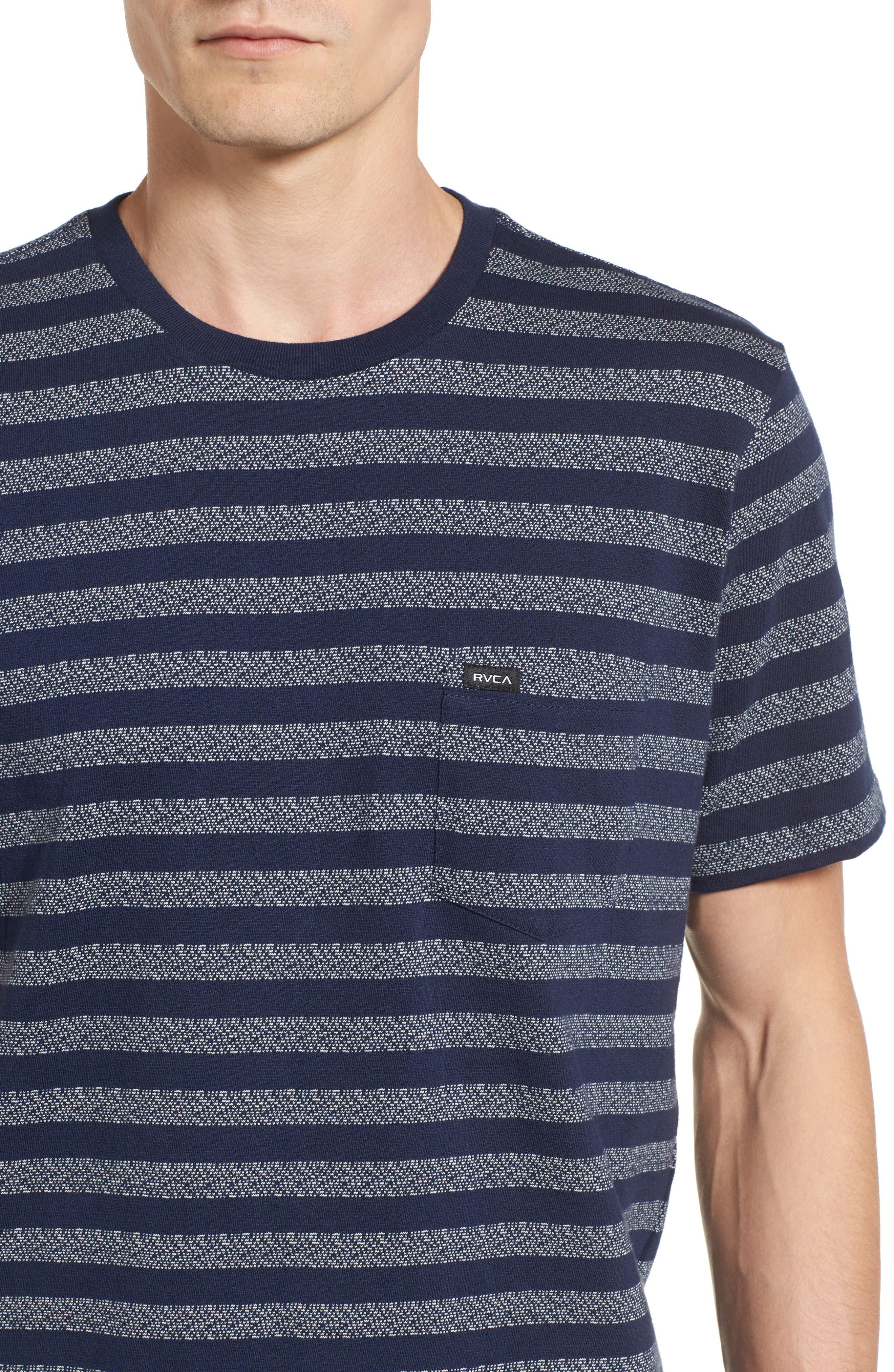 What's Shakin' Stripe T-Shirt,                             Alternate thumbnail 4, color,                             Federal Blue