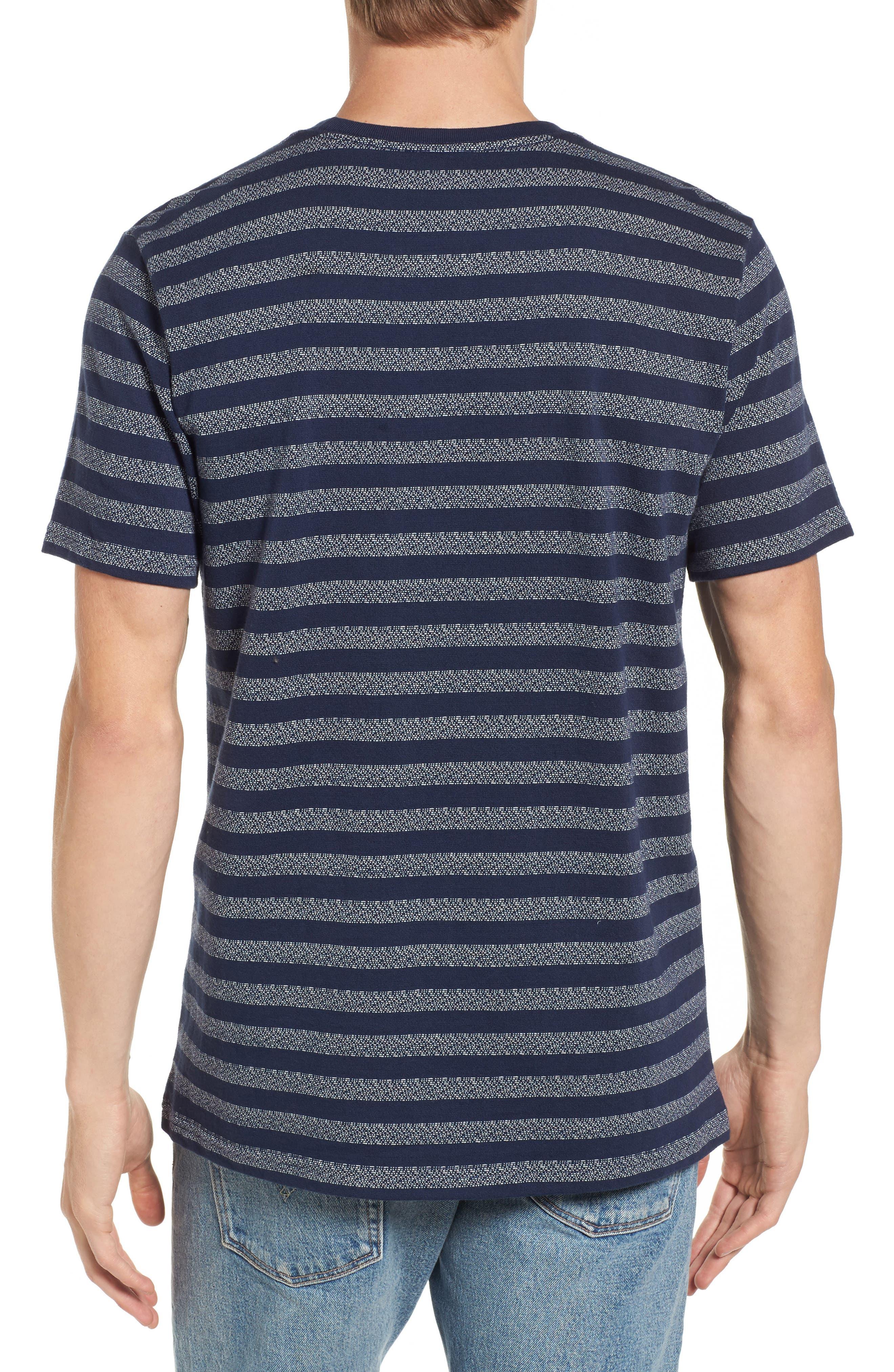 What's Shakin' Stripe T-Shirt,                             Alternate thumbnail 2, color,                             Federal Blue