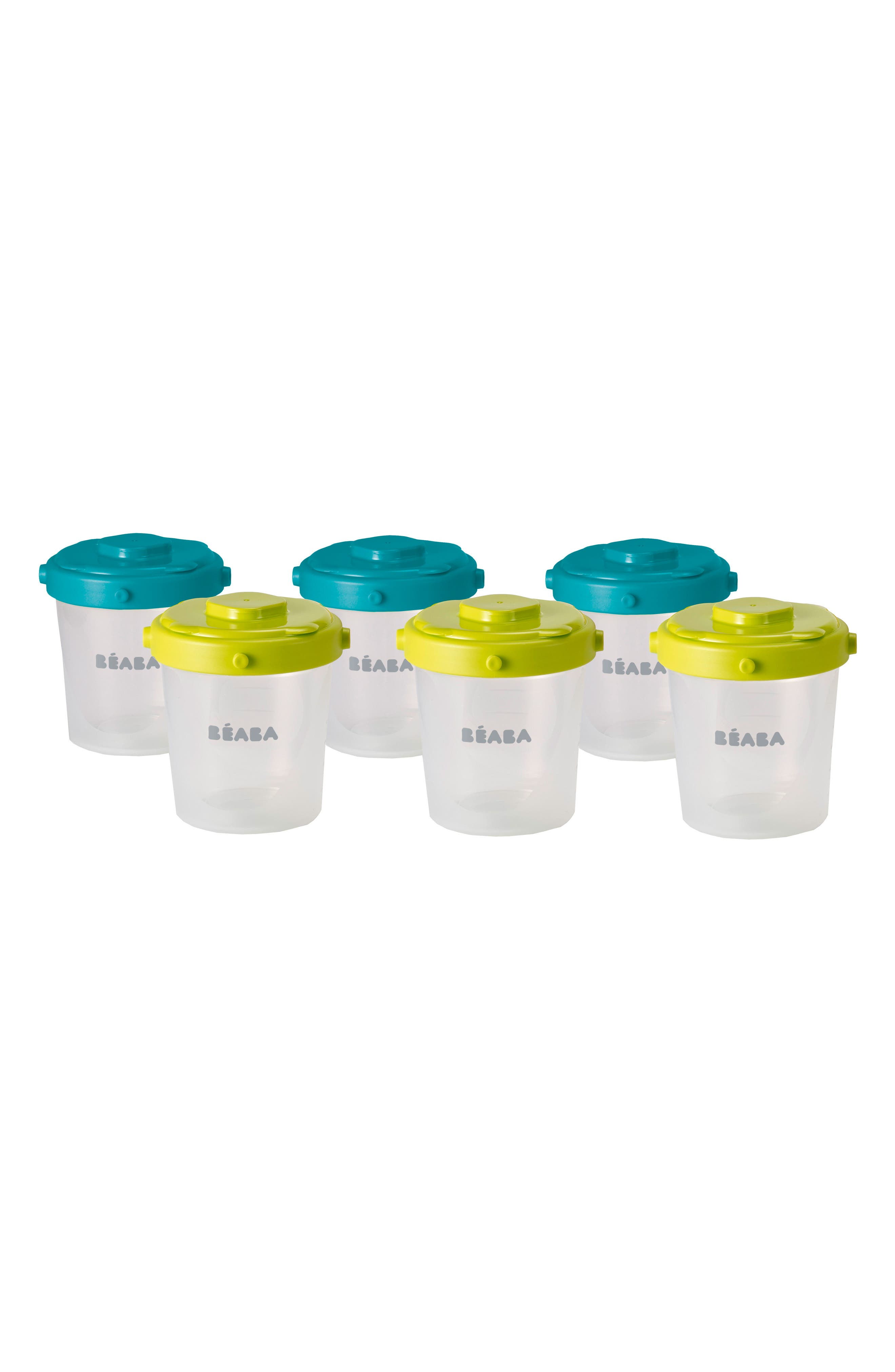 6-Pack Clip Portion Containers,                             Main thumbnail 1, color,                             Peacock