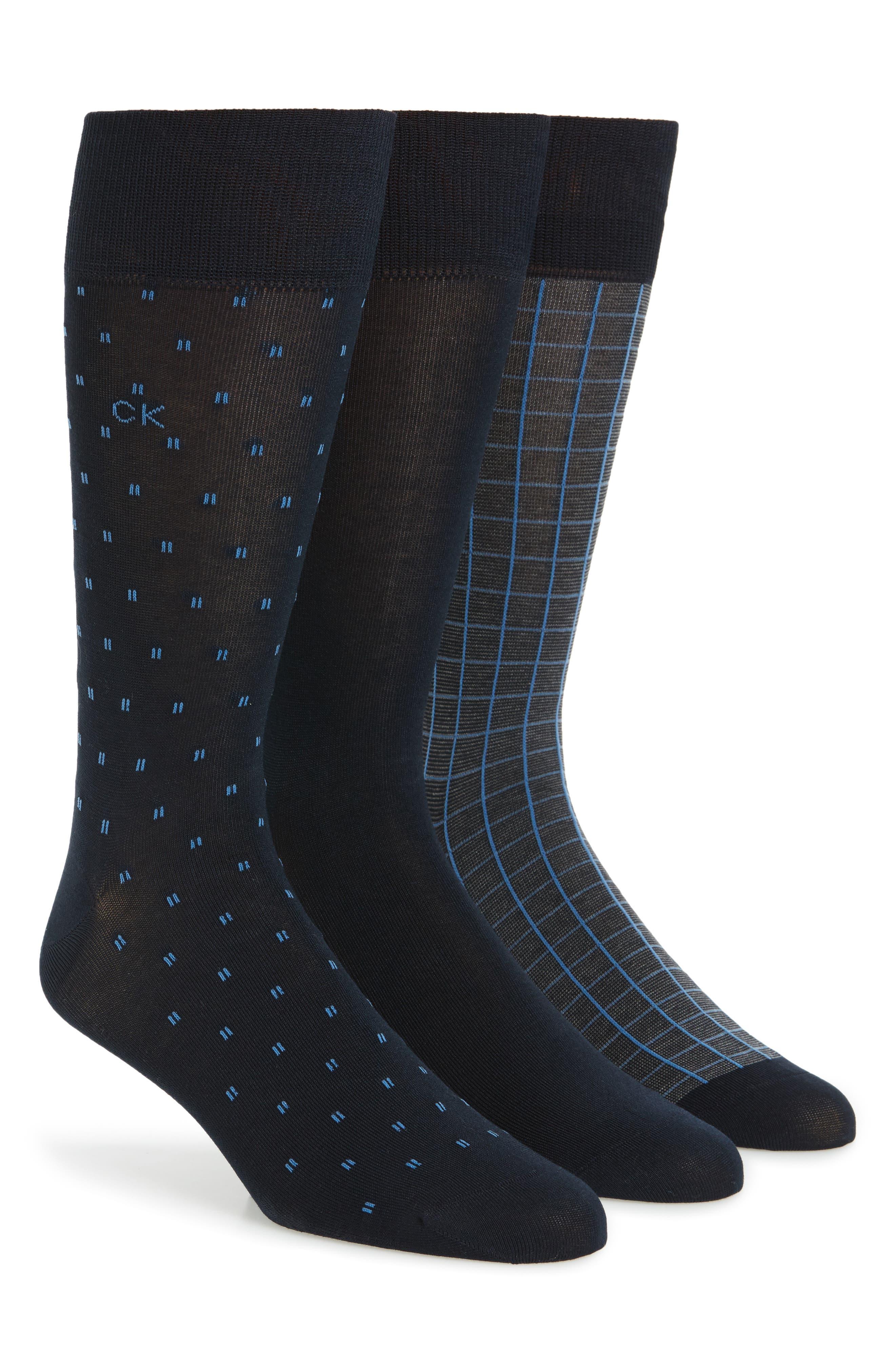 3-Pack Socks,                             Main thumbnail 1, color,                             Navy