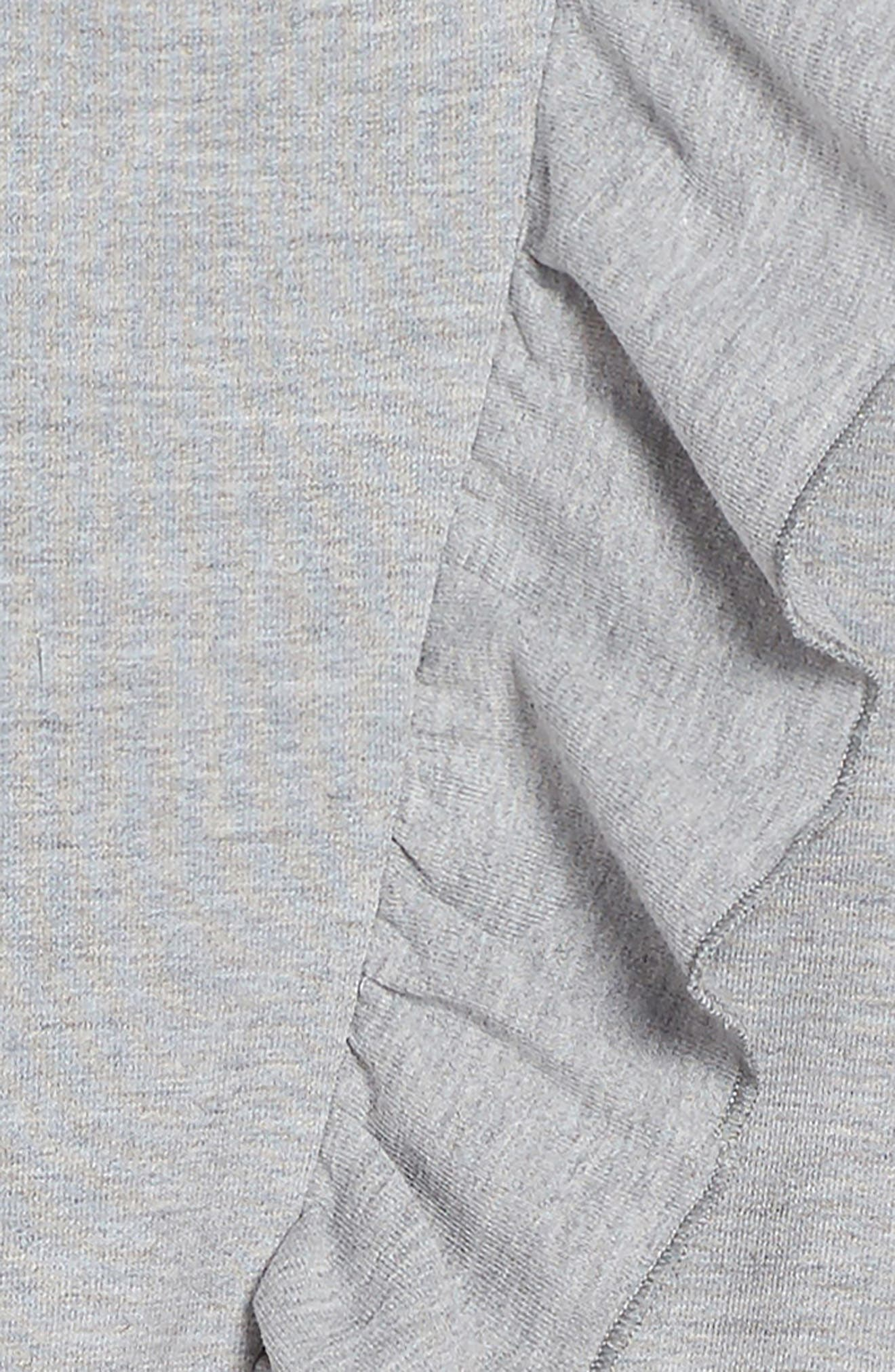 Frill of It Ruffle Dress,                             Alternate thumbnail 3, color,                             Grey Marble
