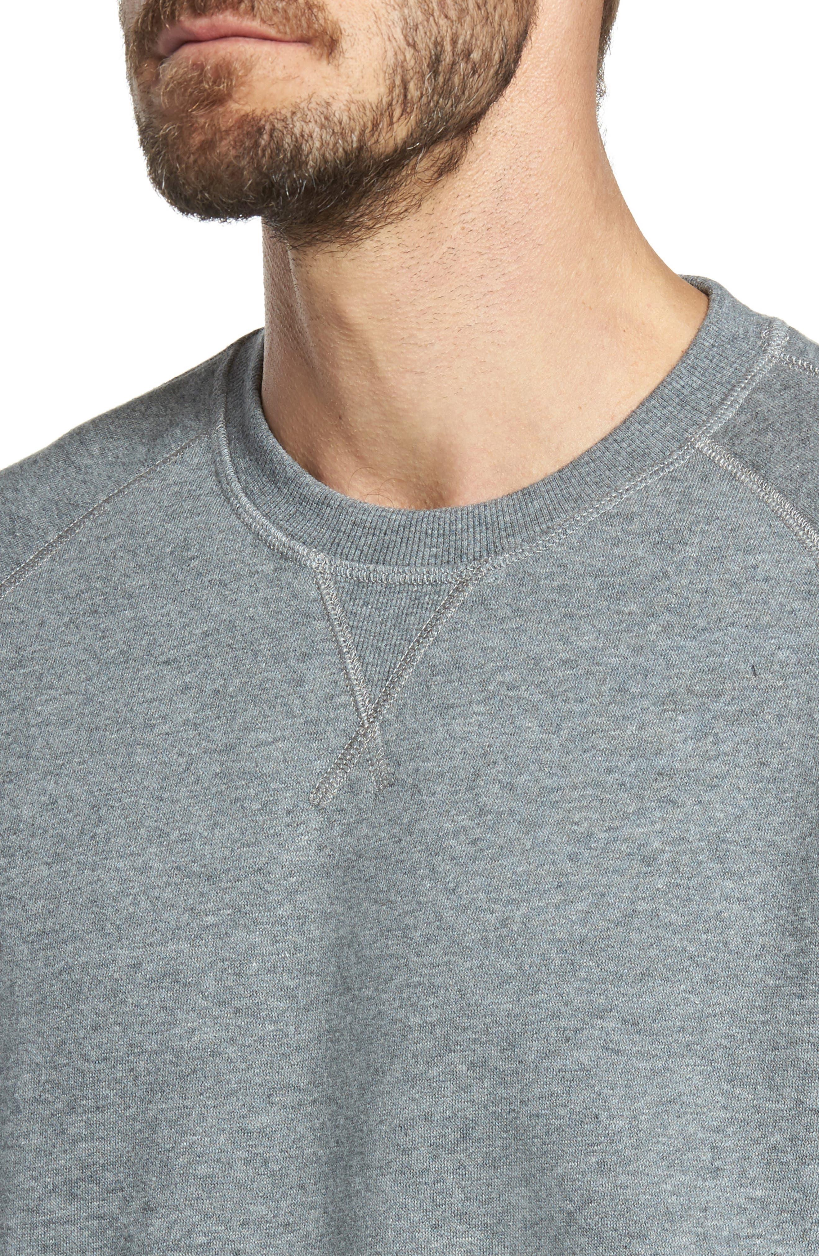Fleece Sweatshirt,                             Alternate thumbnail 4, color,                             Grey Paloma Heather