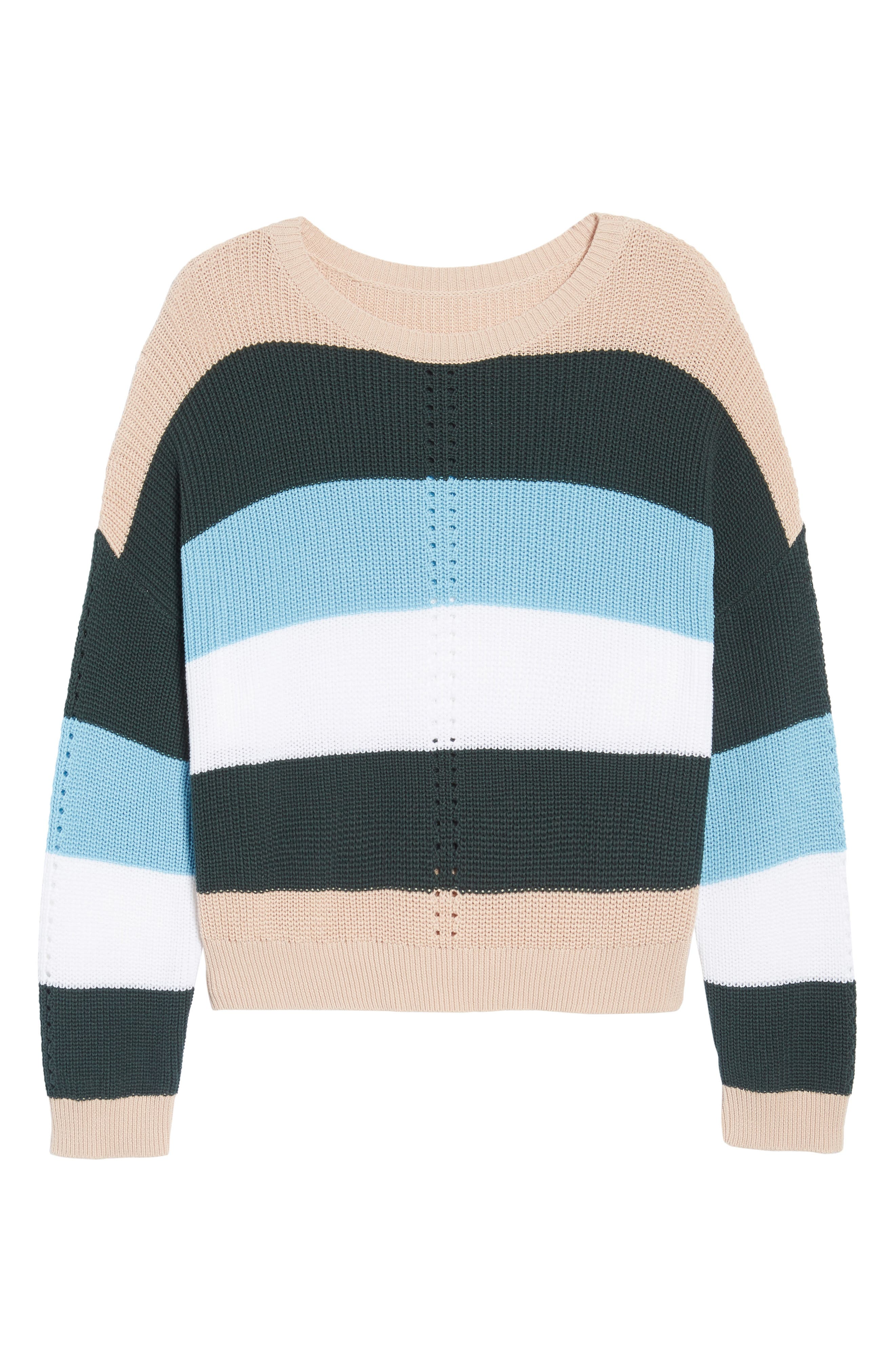 Stripe Sweater,                             Alternate thumbnail 6, color,                             Pink Hero Felicity Stripe