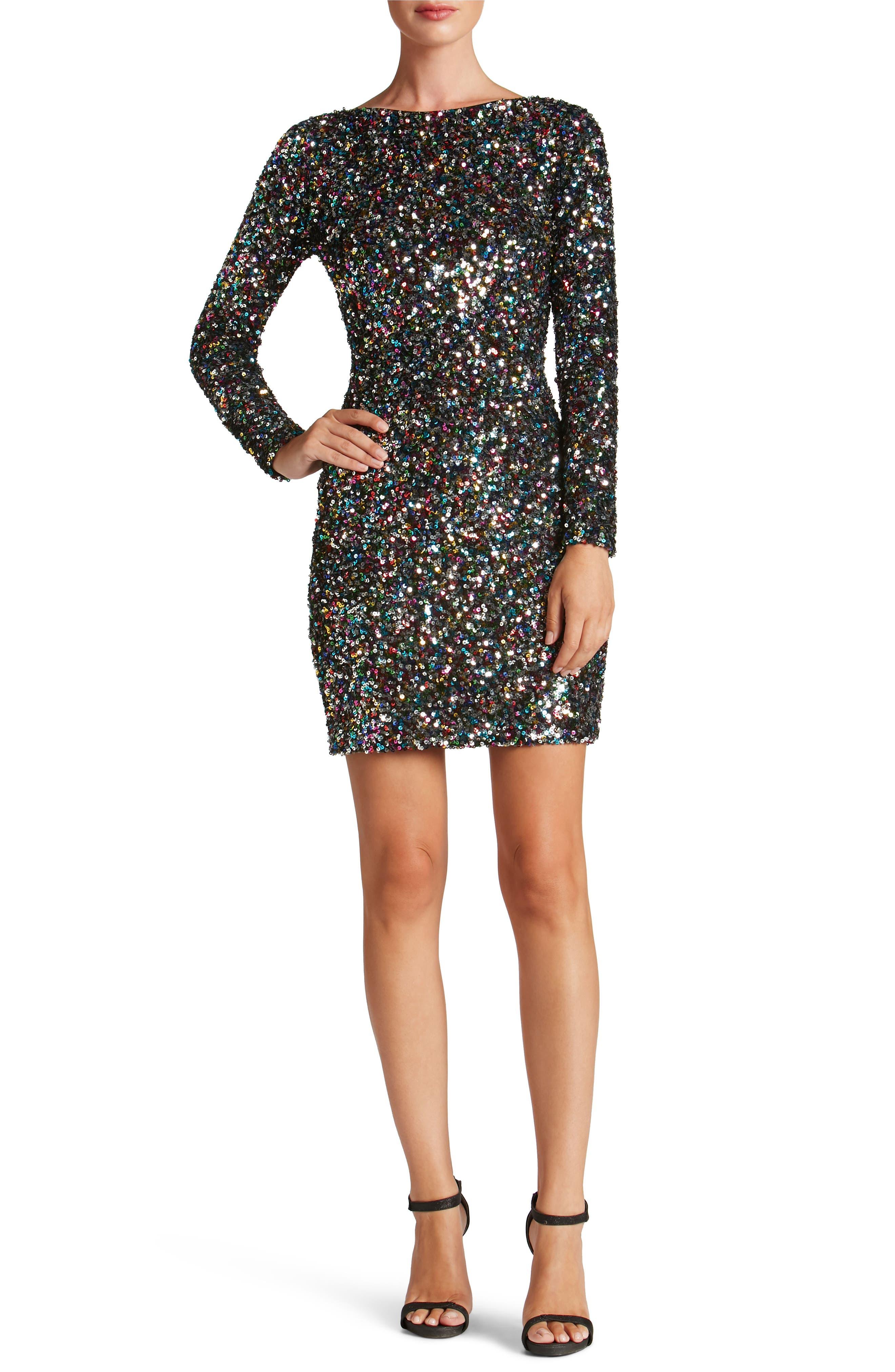 Lola Ombré Sequin Body-Con Dress,                         Main,                         color, Confetti