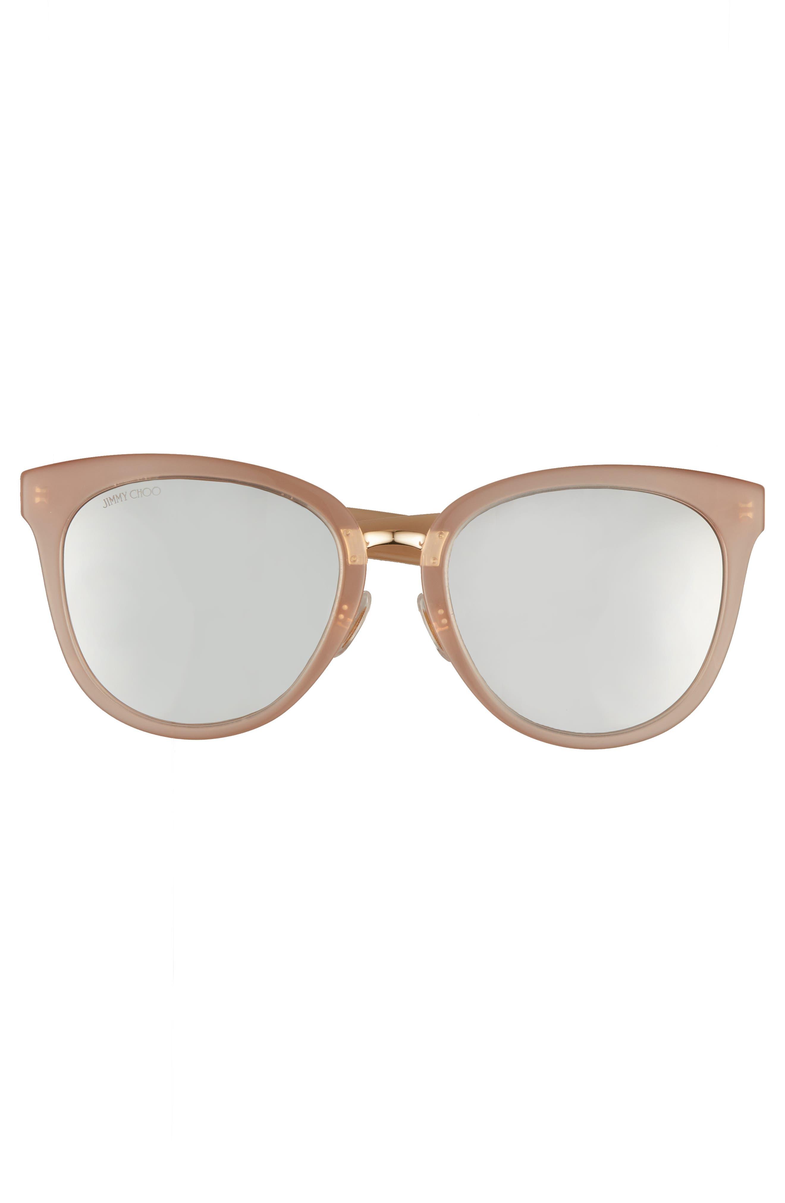 Cadefs 55mm Sunglasses,                             Alternate thumbnail 3, color,                             Nude Glitter Nude