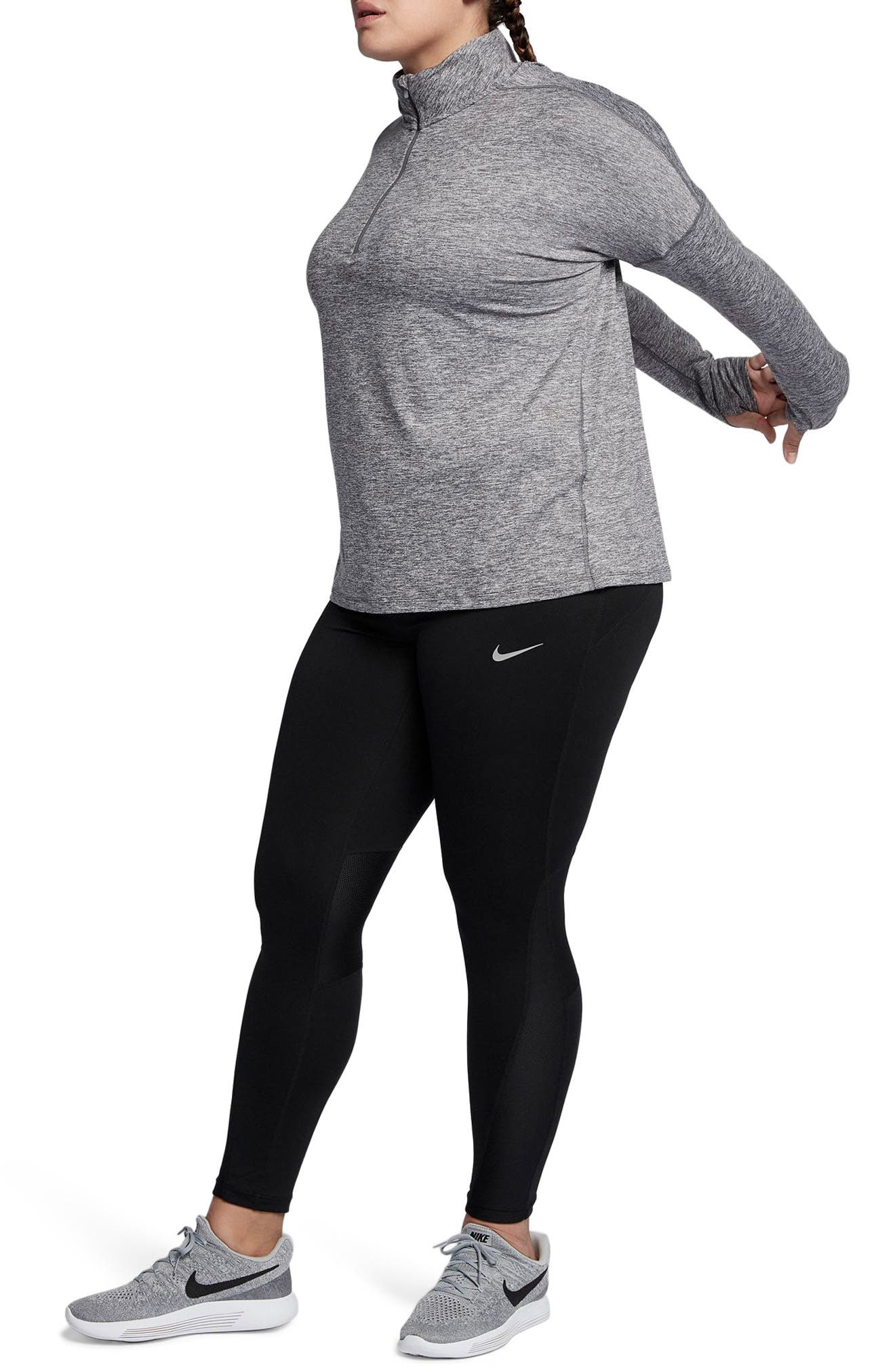 Alternate Image 4  - Nike Dry Element Half Zip Top (Plus Size)