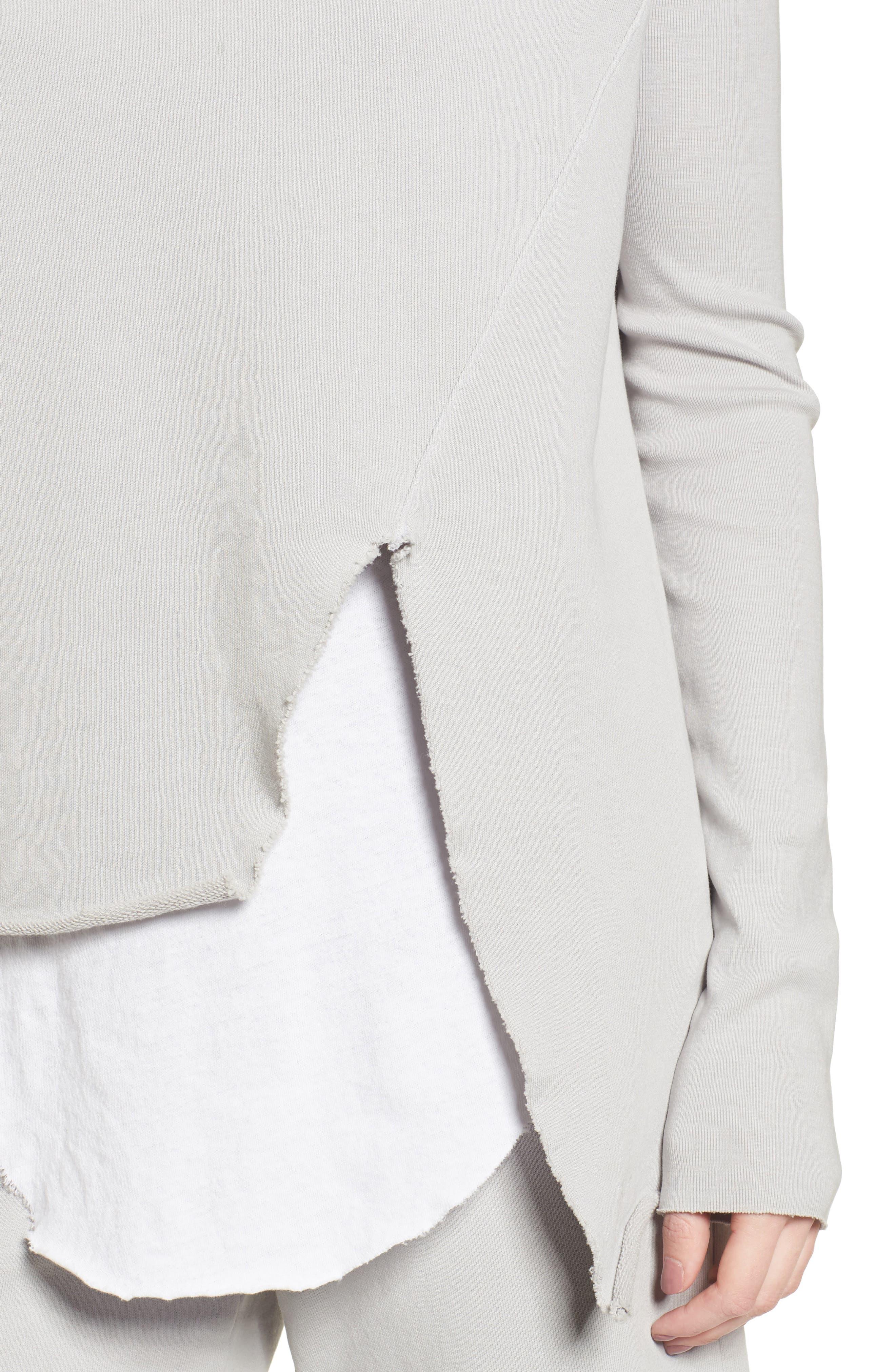 Asymmetric Sweatshirt,                             Alternate thumbnail 4, color,                             Grey Area