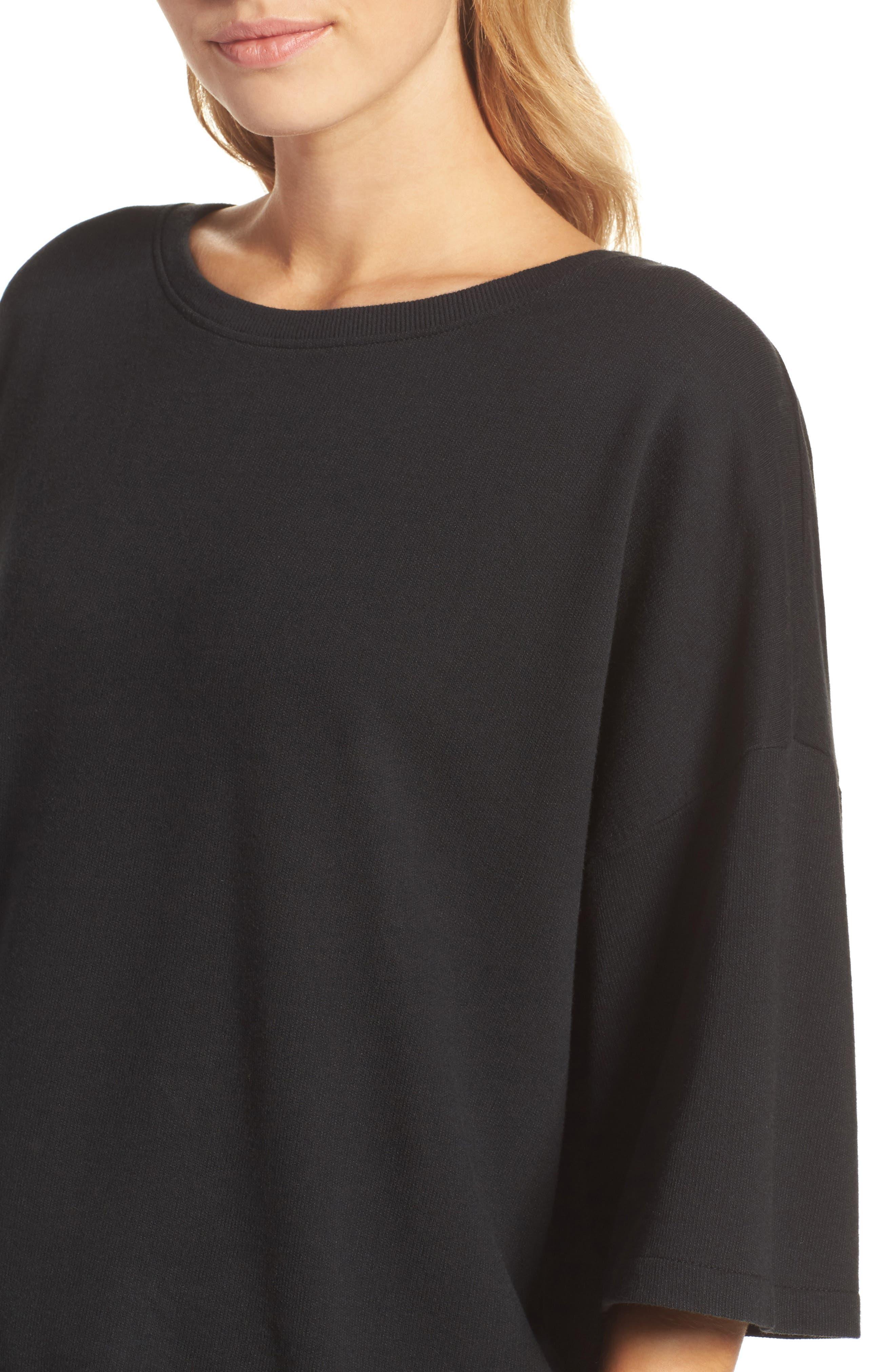 Soph Lounge Sweater,                             Alternate thumbnail 6, color,                             Plain Black Marle