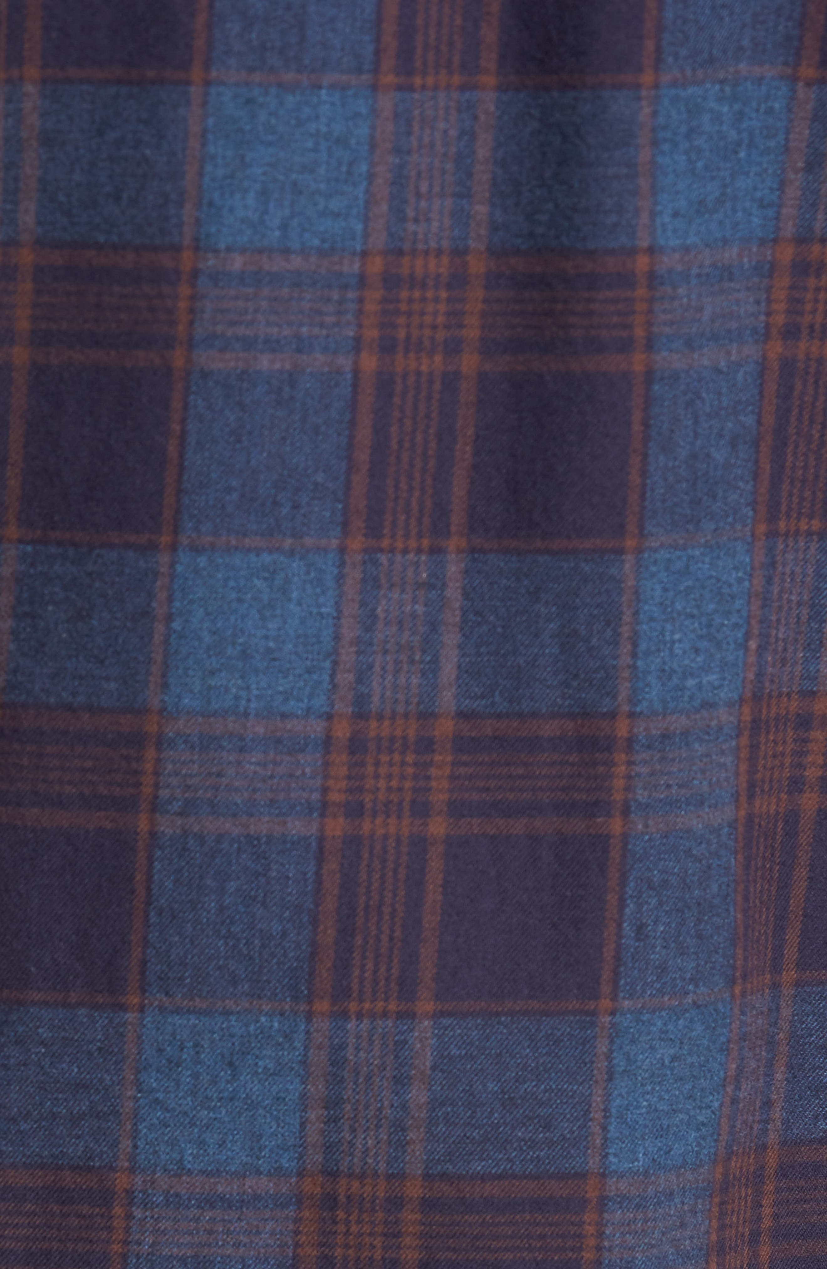 Regular Fit Lumber Check Flannel Shirt,                             Alternate thumbnail 5, color,                             Blue Canal Navy Plaid