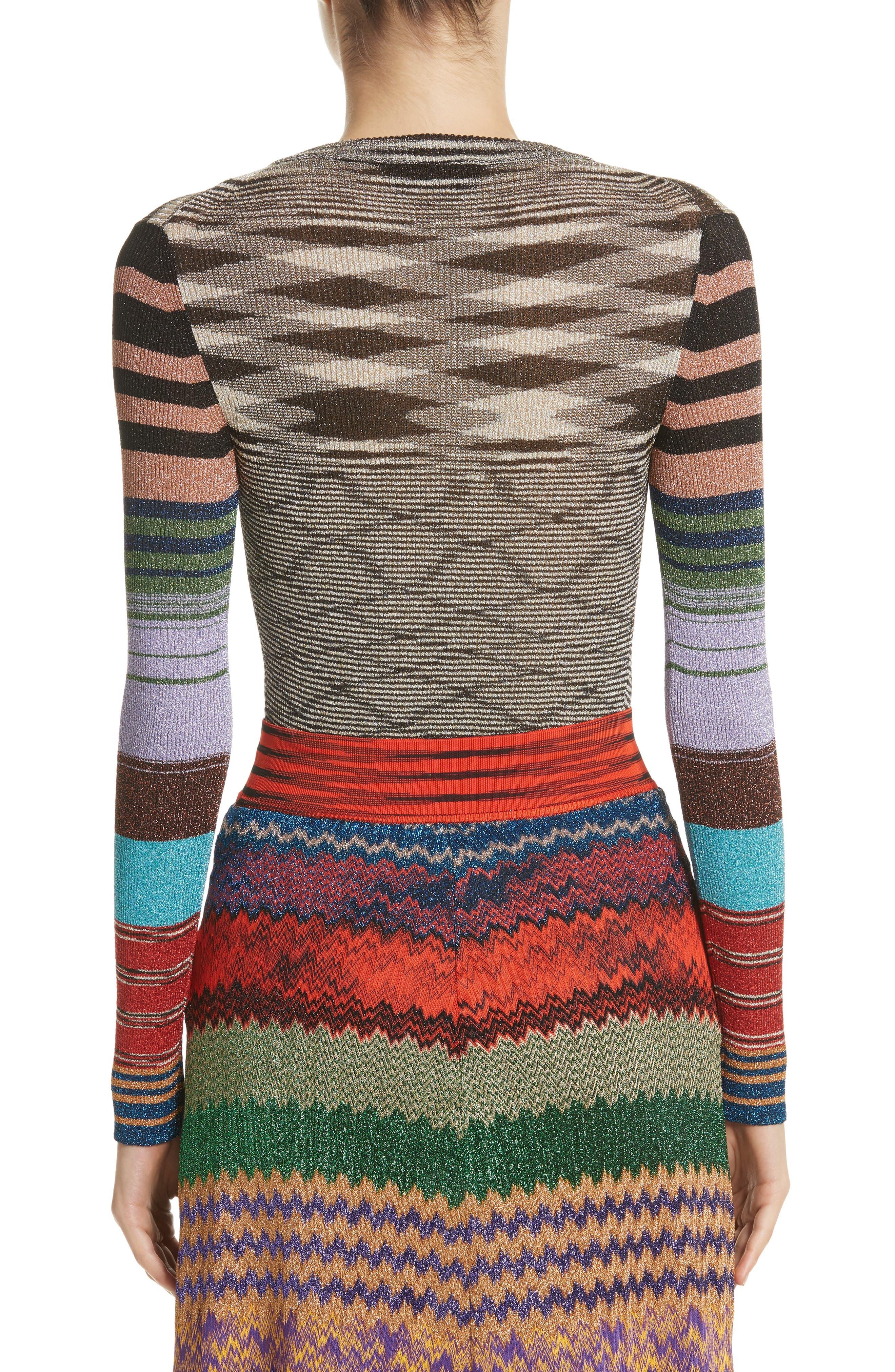 Metallic Space Dye Knit Sweater,                             Alternate thumbnail 2, color,                             Multi