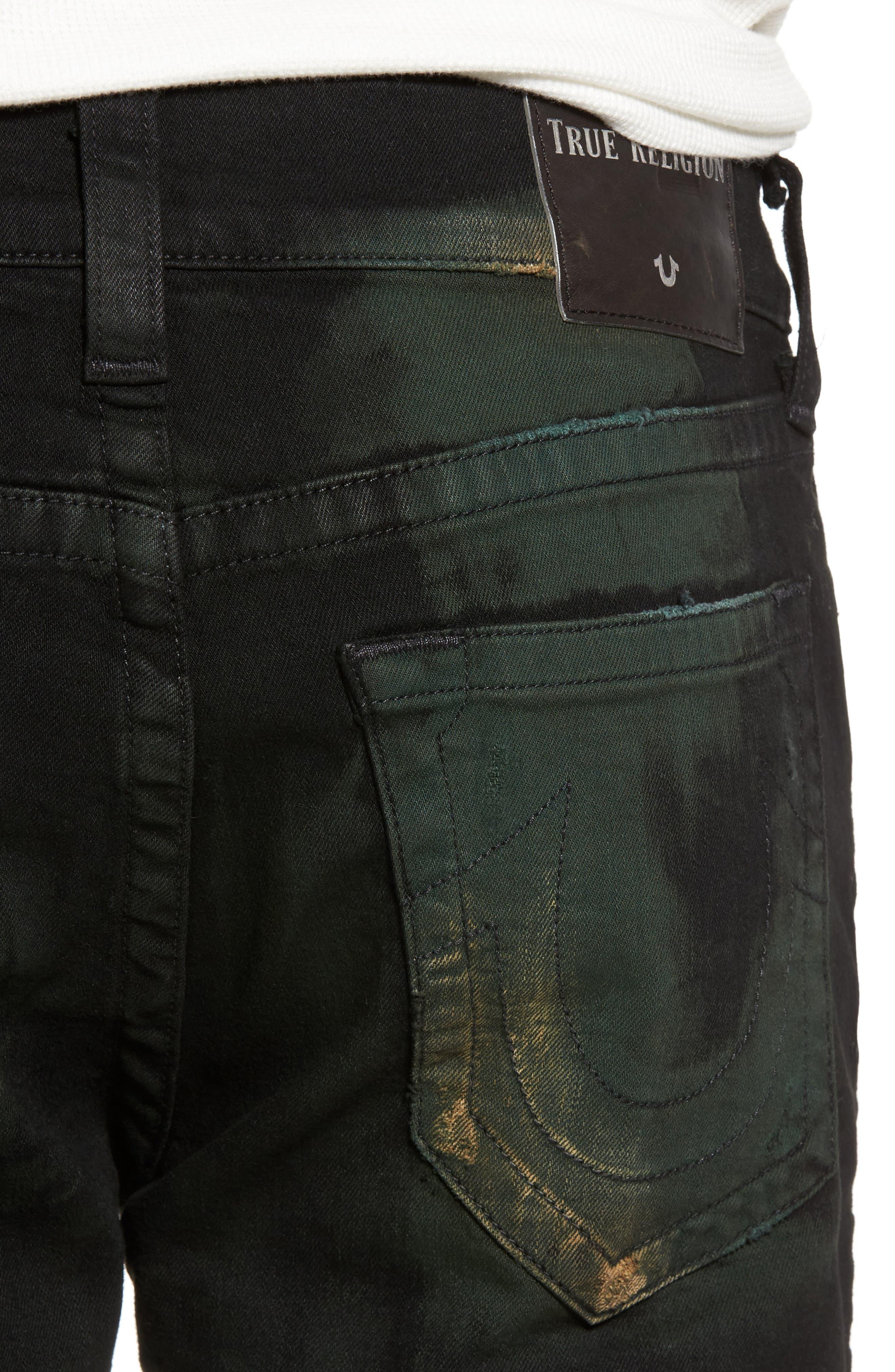 Alternate Image 4  - True Religion Brand Jeans Rocco Skinny Fit Jeans (Green Blaze)