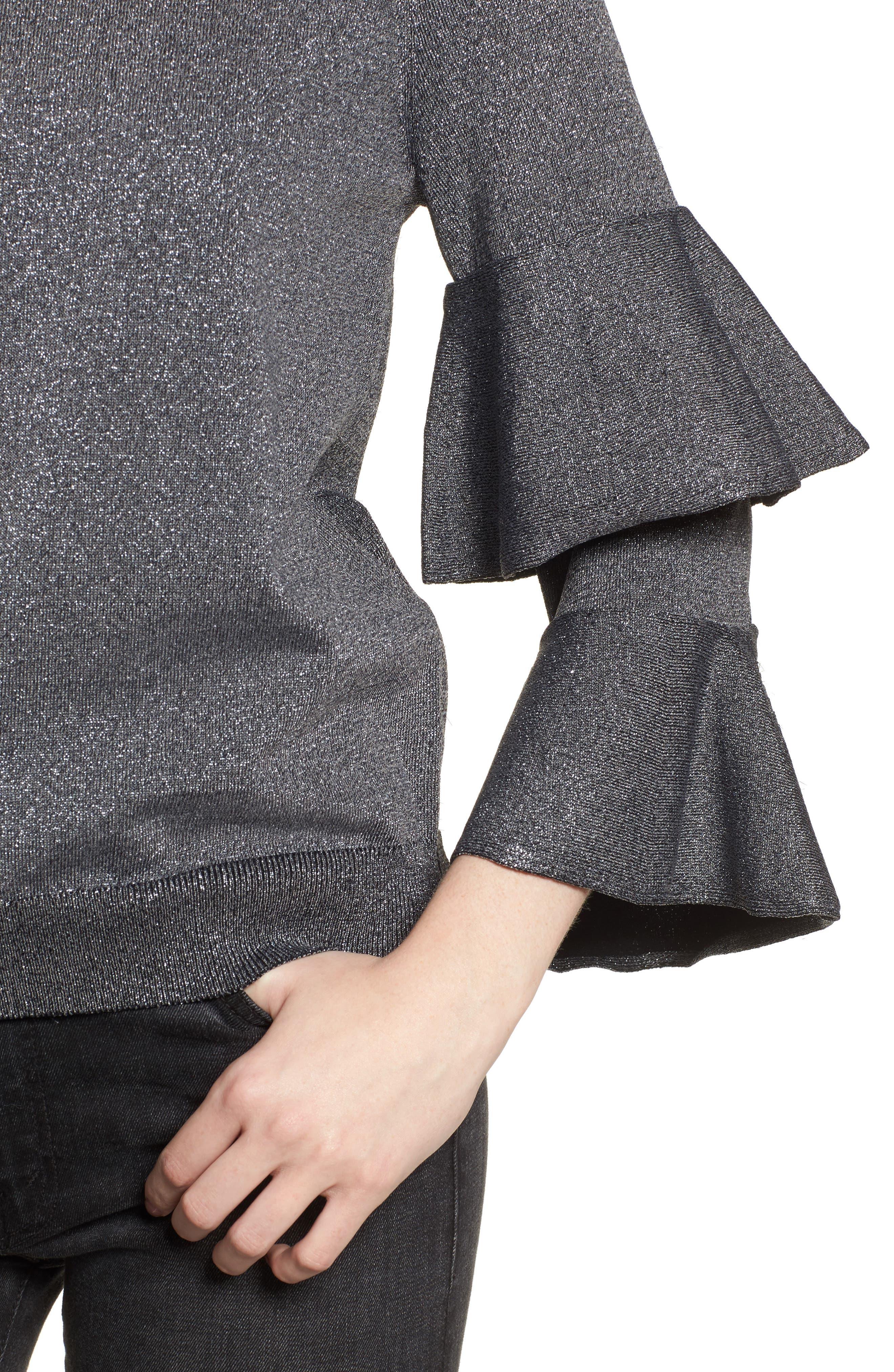 Alternate Image 4  - Parker Jayla Ruffle Sleeve Sweater