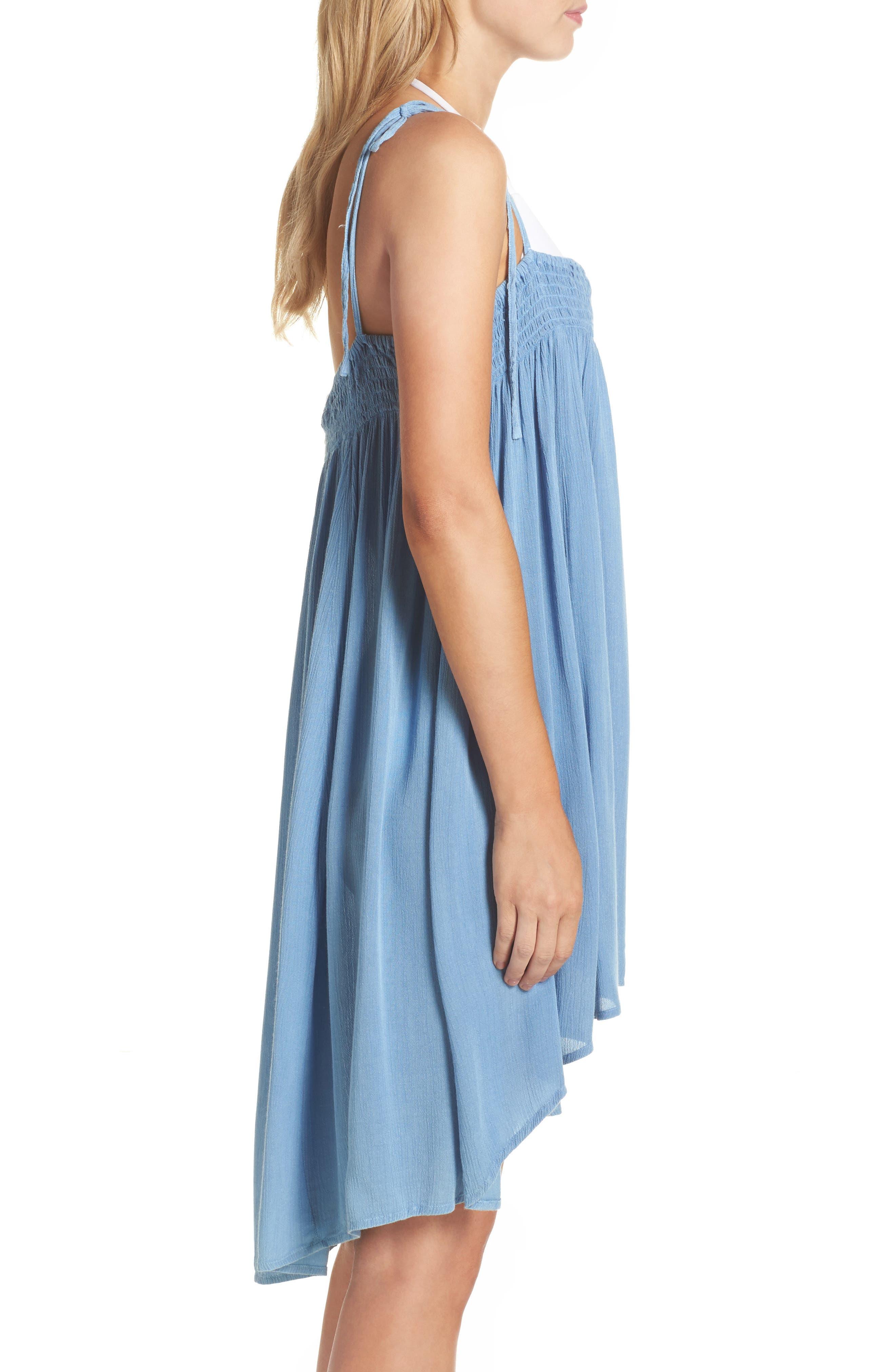 Oliva Cover-Up Dress,                             Alternate thumbnail 3, color,                             Denim
