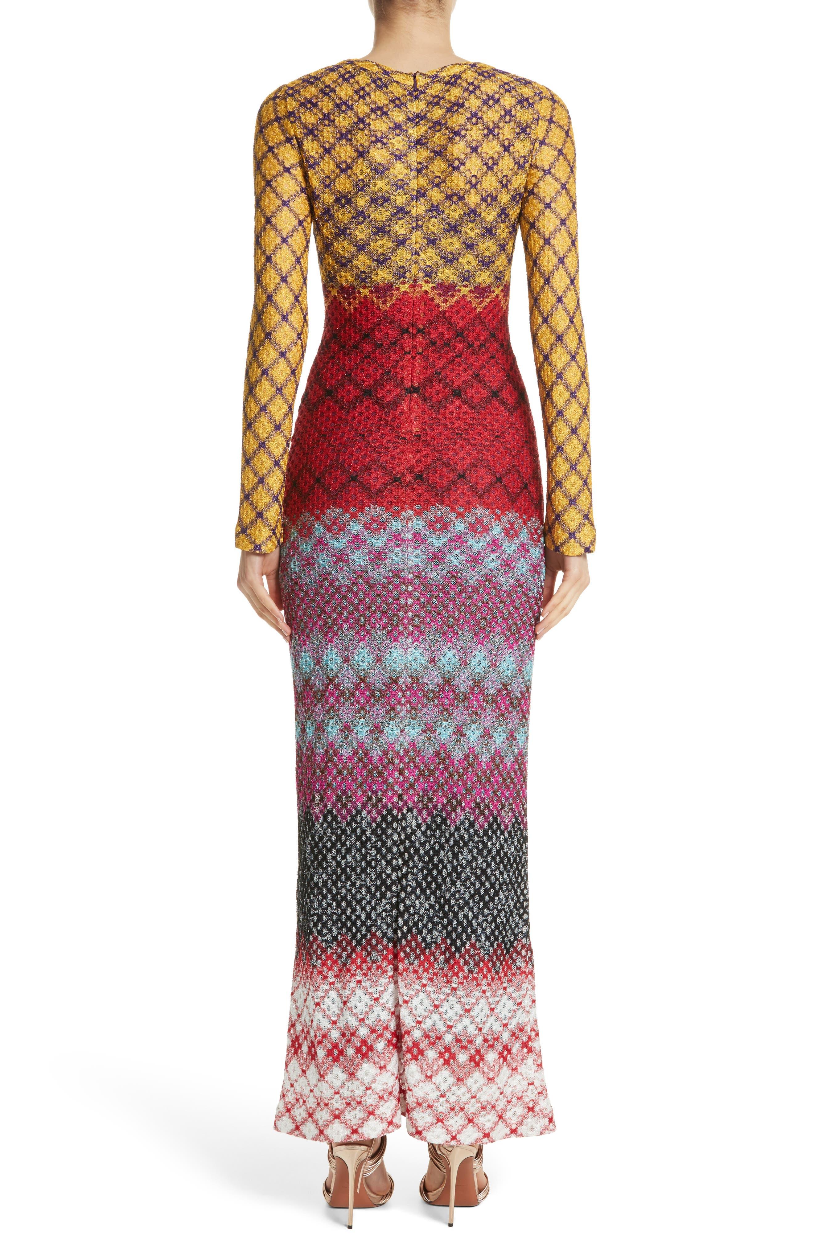 Metallic Knit Maxi Dress,                             Alternate thumbnail 2, color,                             Multi