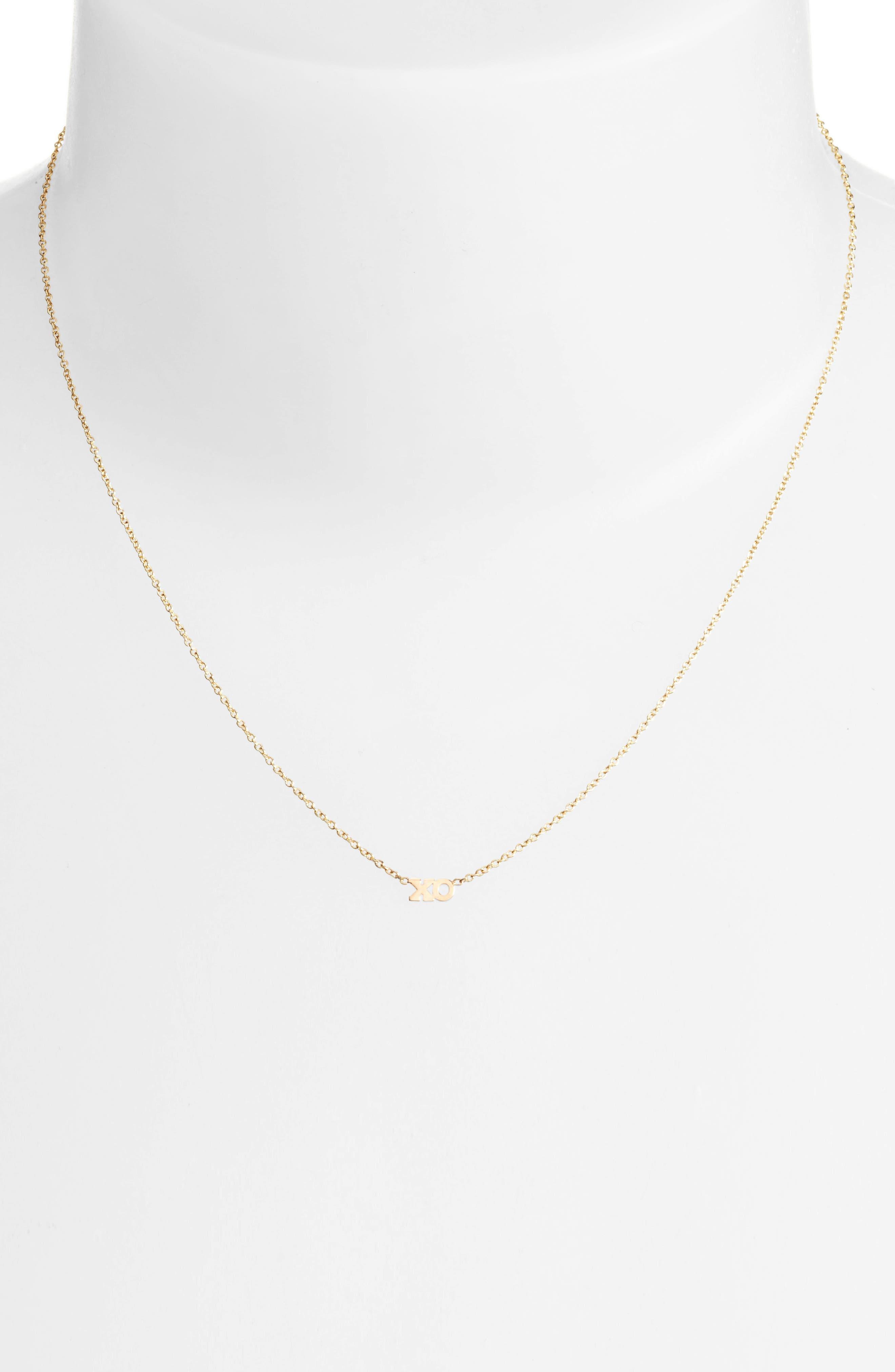 Alternate Image 2  - Zoë Chicco XO Pendant Necklace