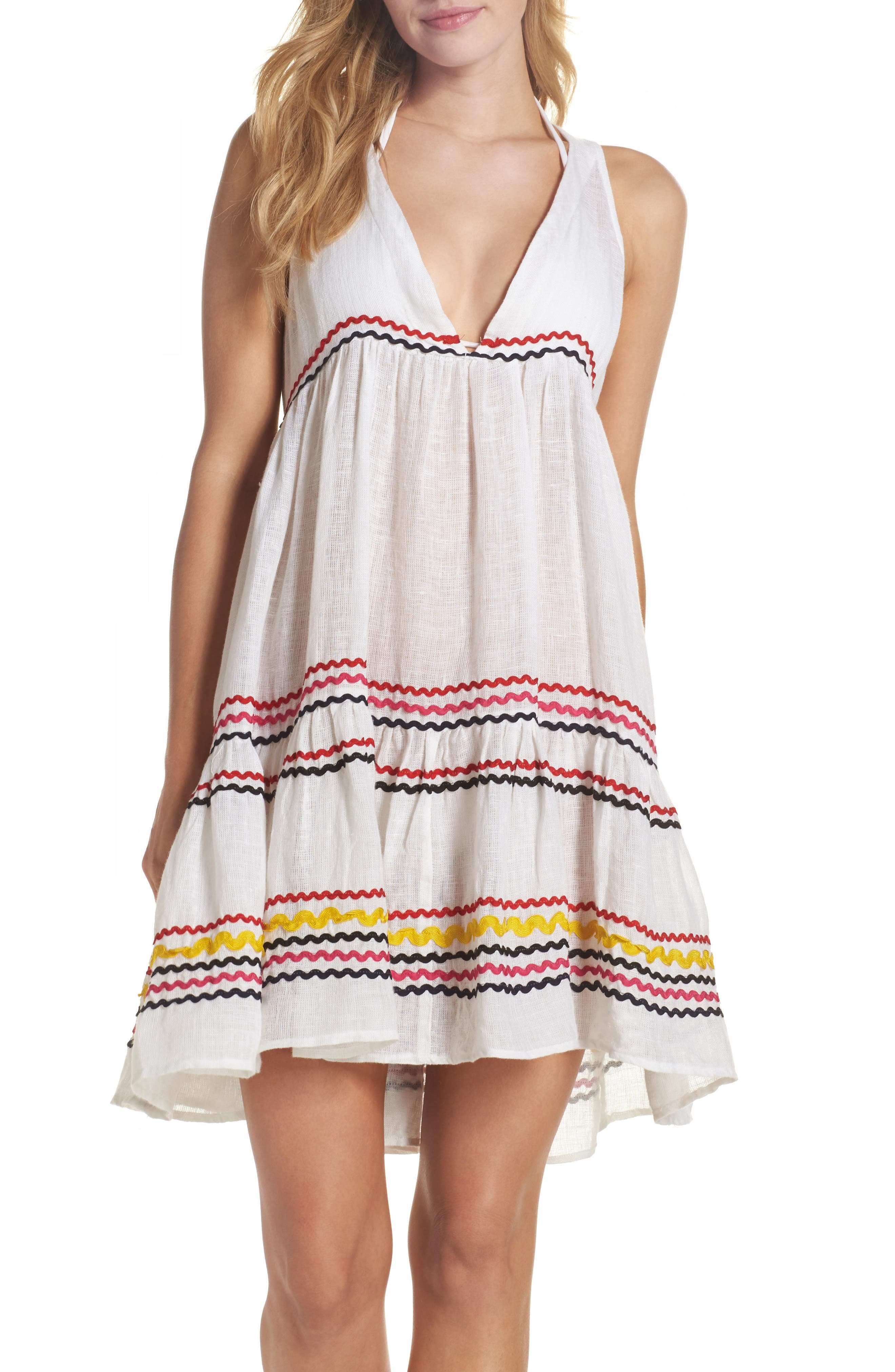 Mira Cover-Up Dress,                         Main,                         color, Multi White