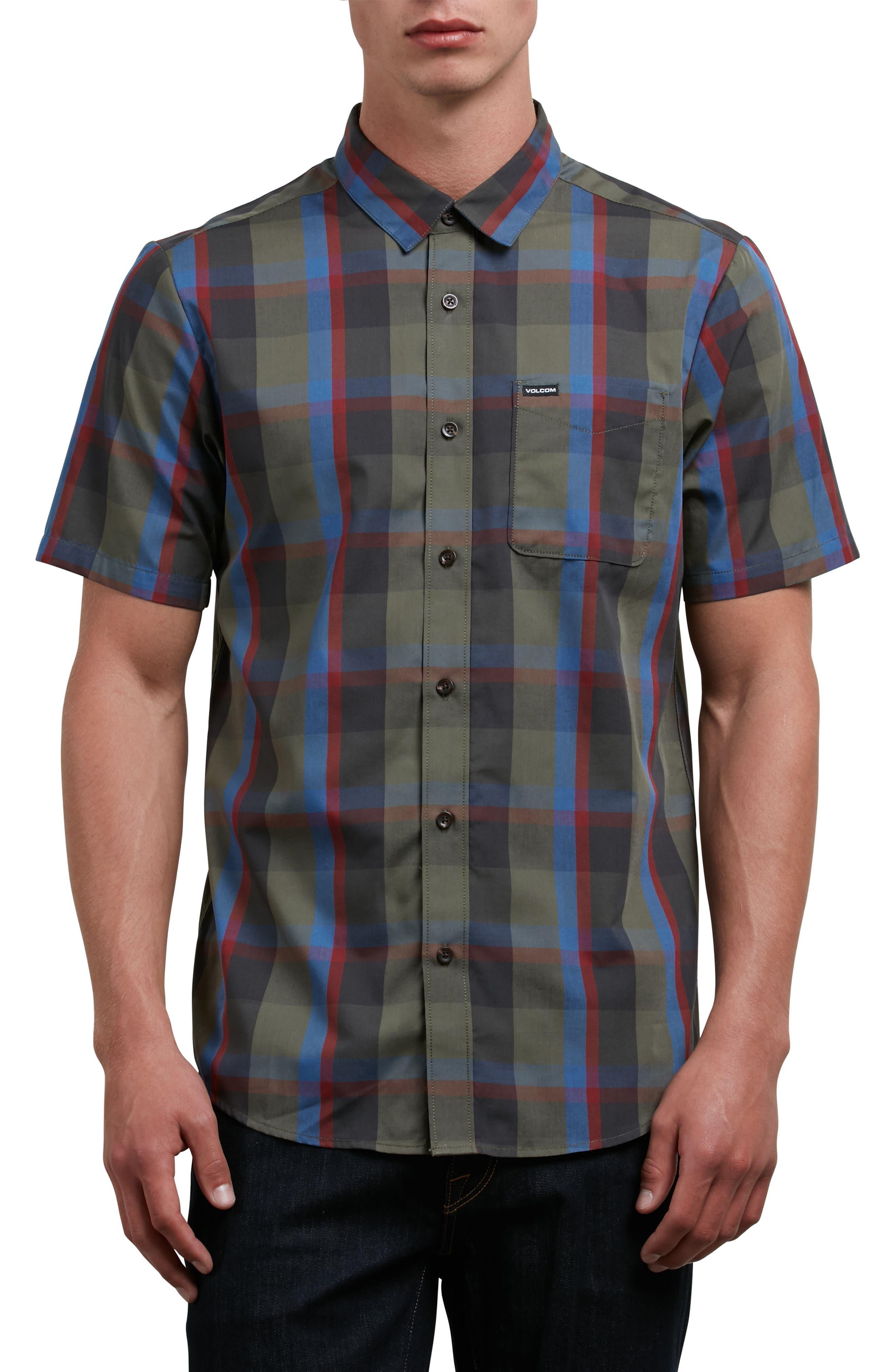 Woodson Woven Shirt,                             Main thumbnail 1, color,                             Green