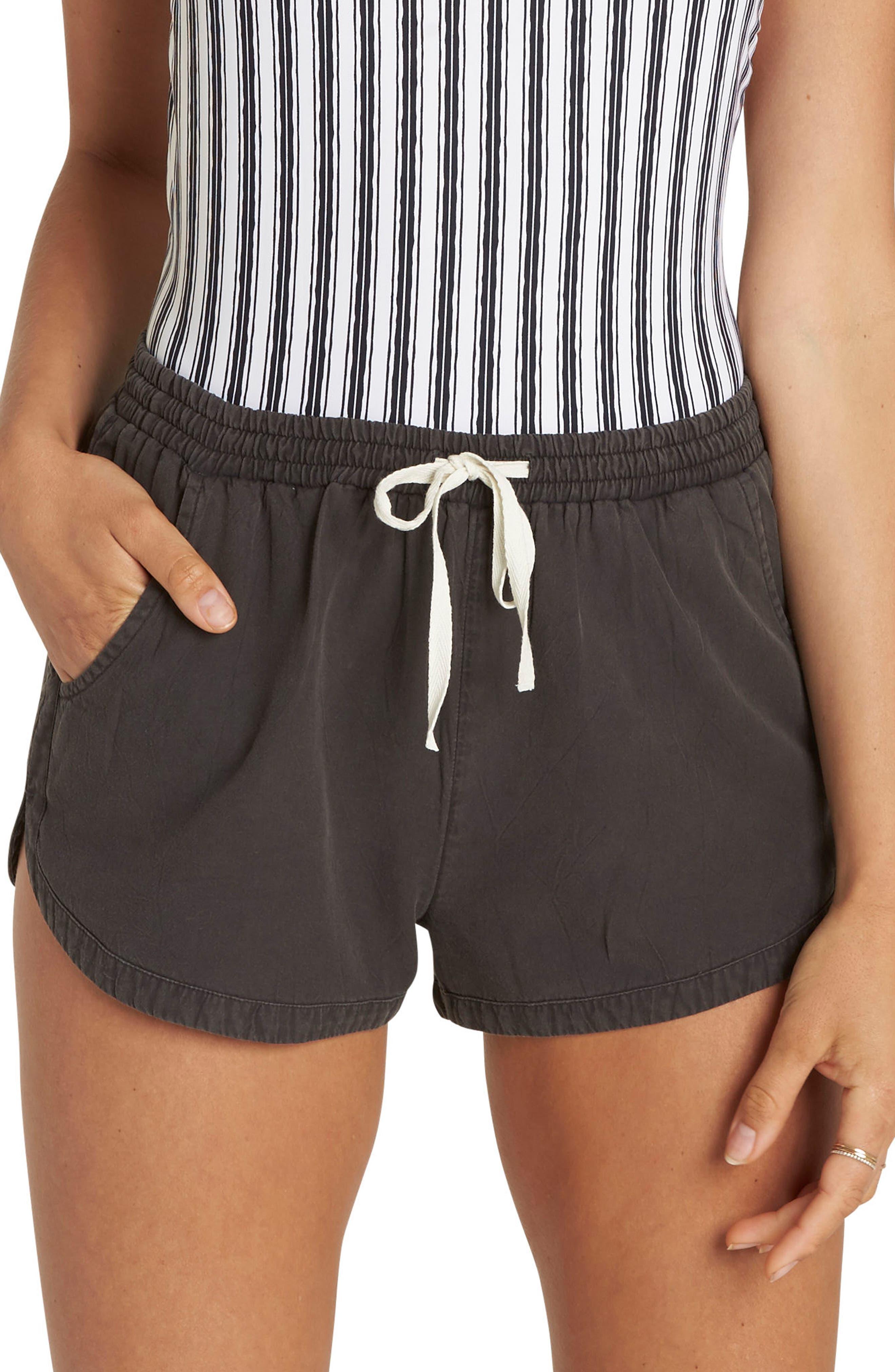 'Road Trippin' Shorts,                             Main thumbnail 1, color,                             Off Black