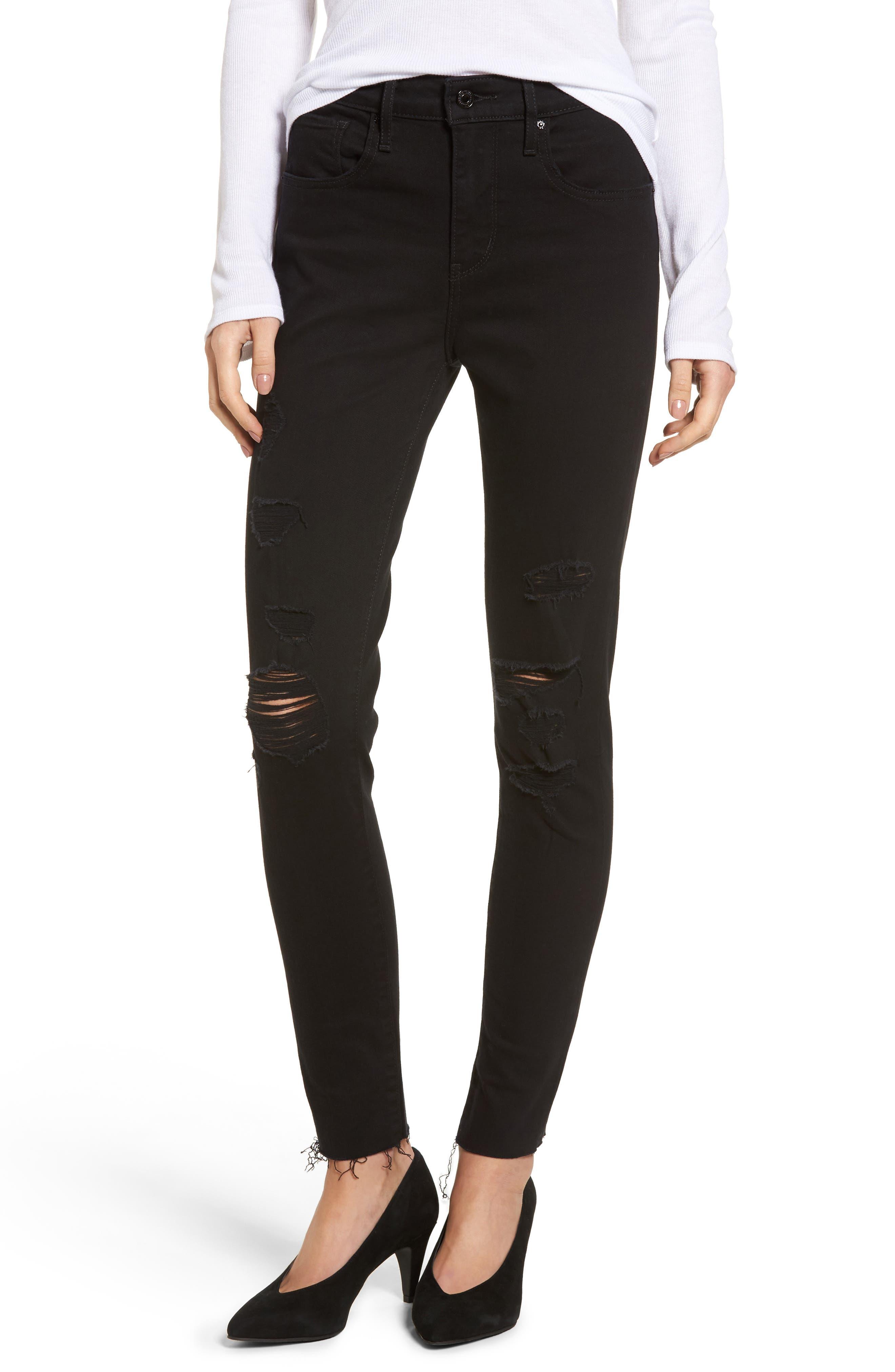 Levi's® 721 High Waist Skinny Jeans (Atomic Black)