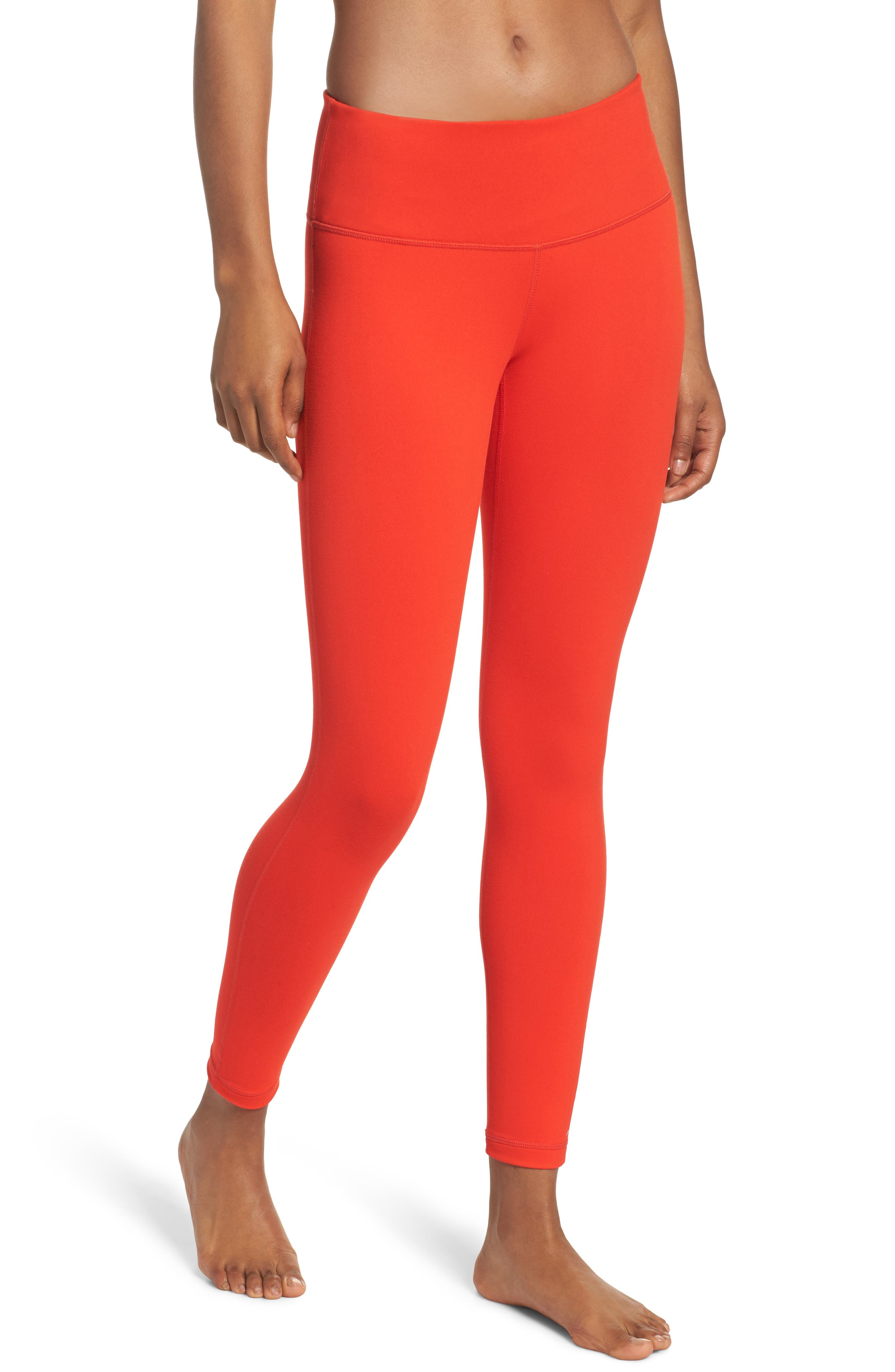 Live In Midi Leggings,                             Main thumbnail 1, color,                             Red Fiery