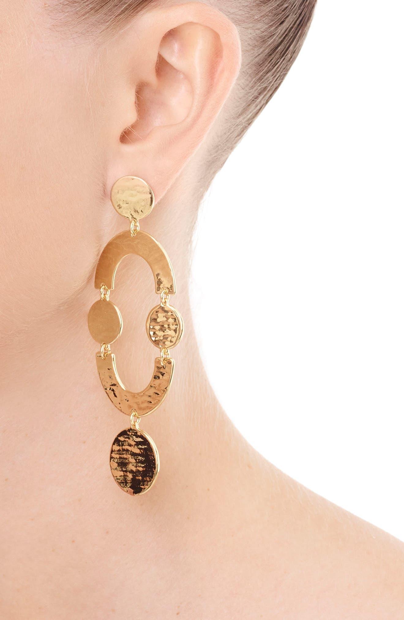 Circlet Earrings,                         Main,                         color, Gold