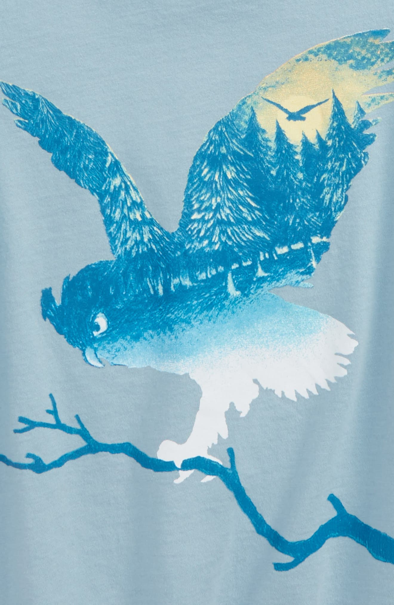 Owl Graphic Tee,                             Alternate thumbnail 2, color,                             Heather Grey