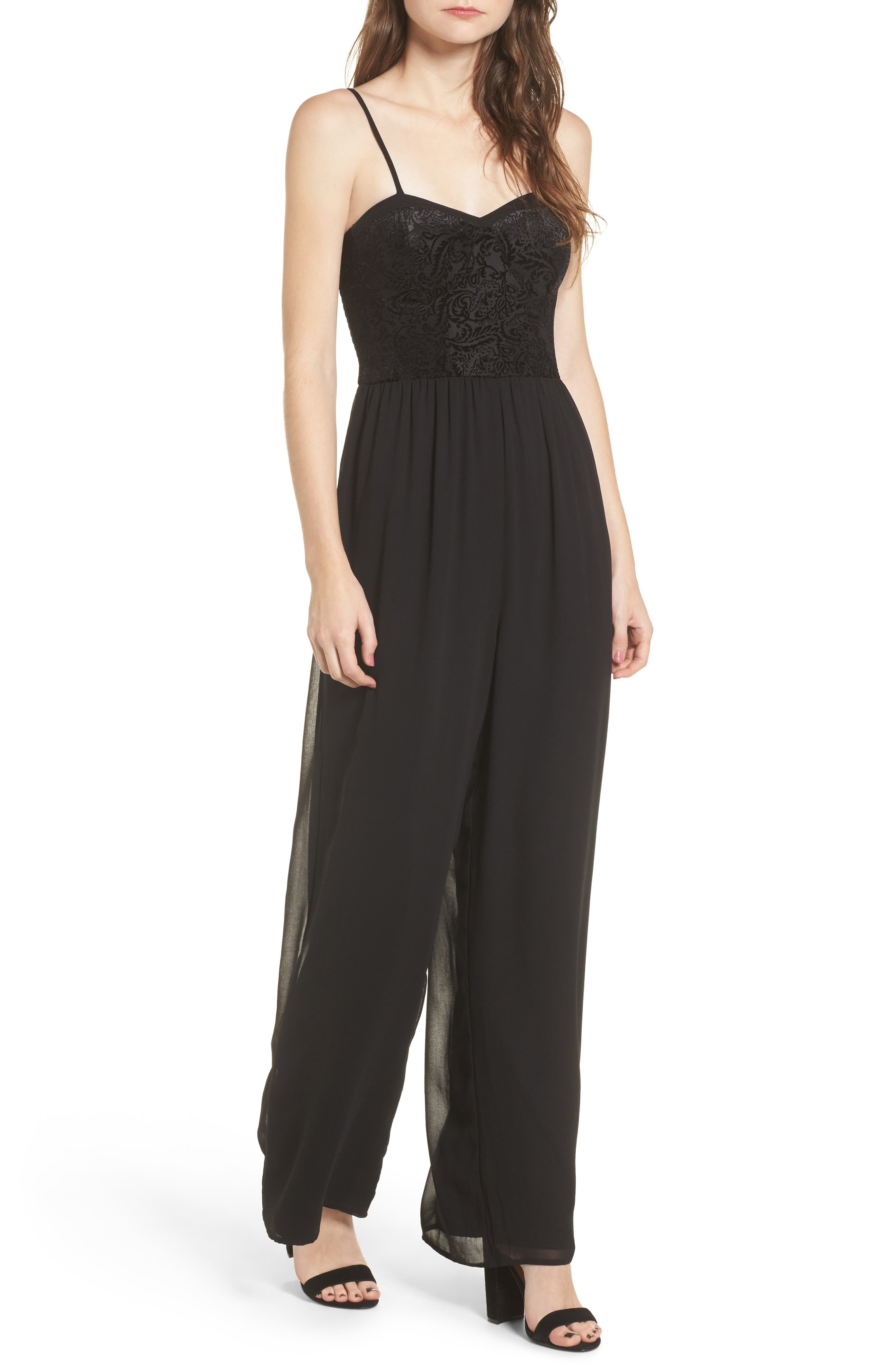 B.O.G Collective Velvet Bodice Jumpsuit