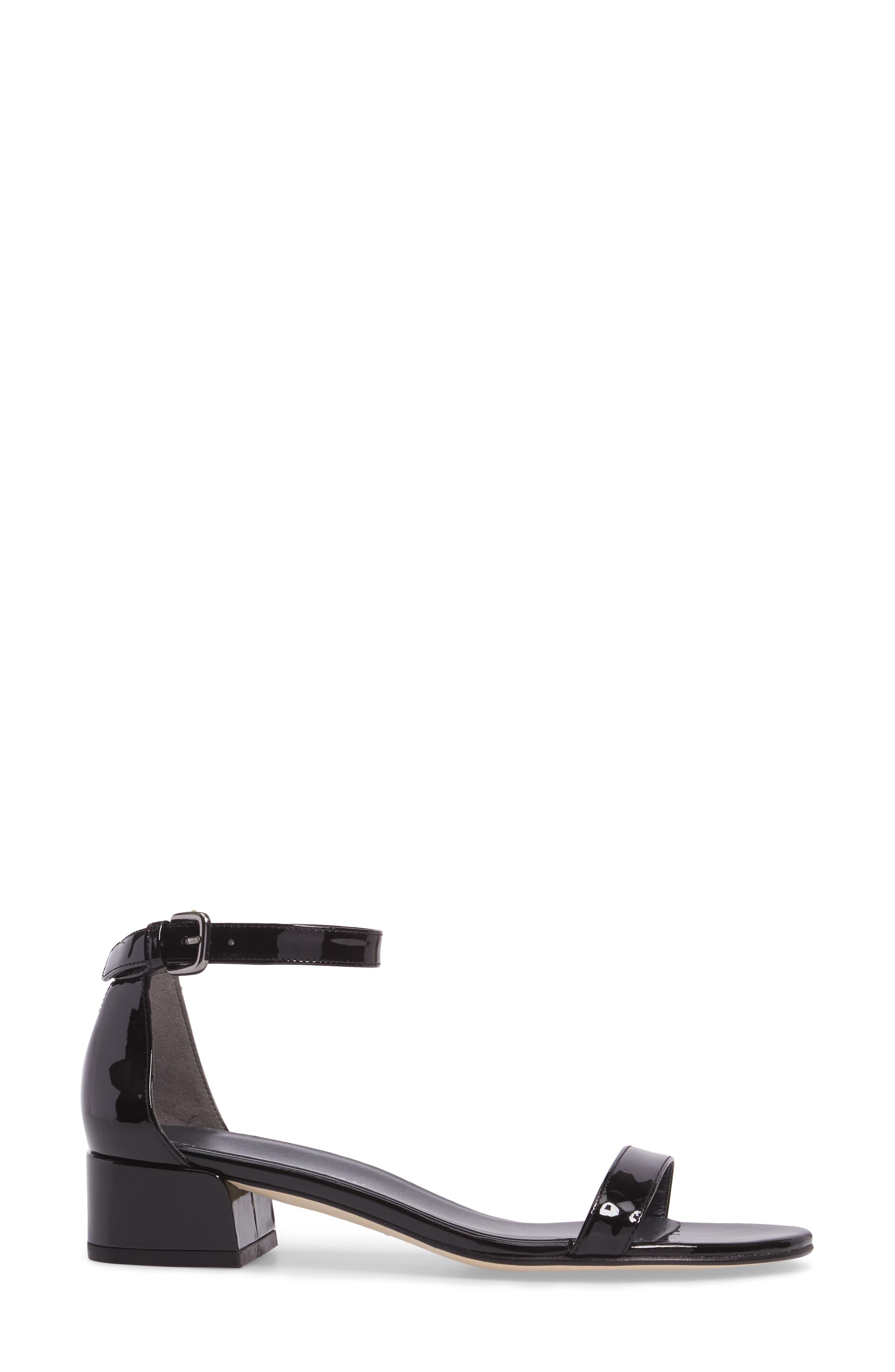 NudistJune Block Heel Sandal,                             Alternate thumbnail 3, color,                             Black Patent