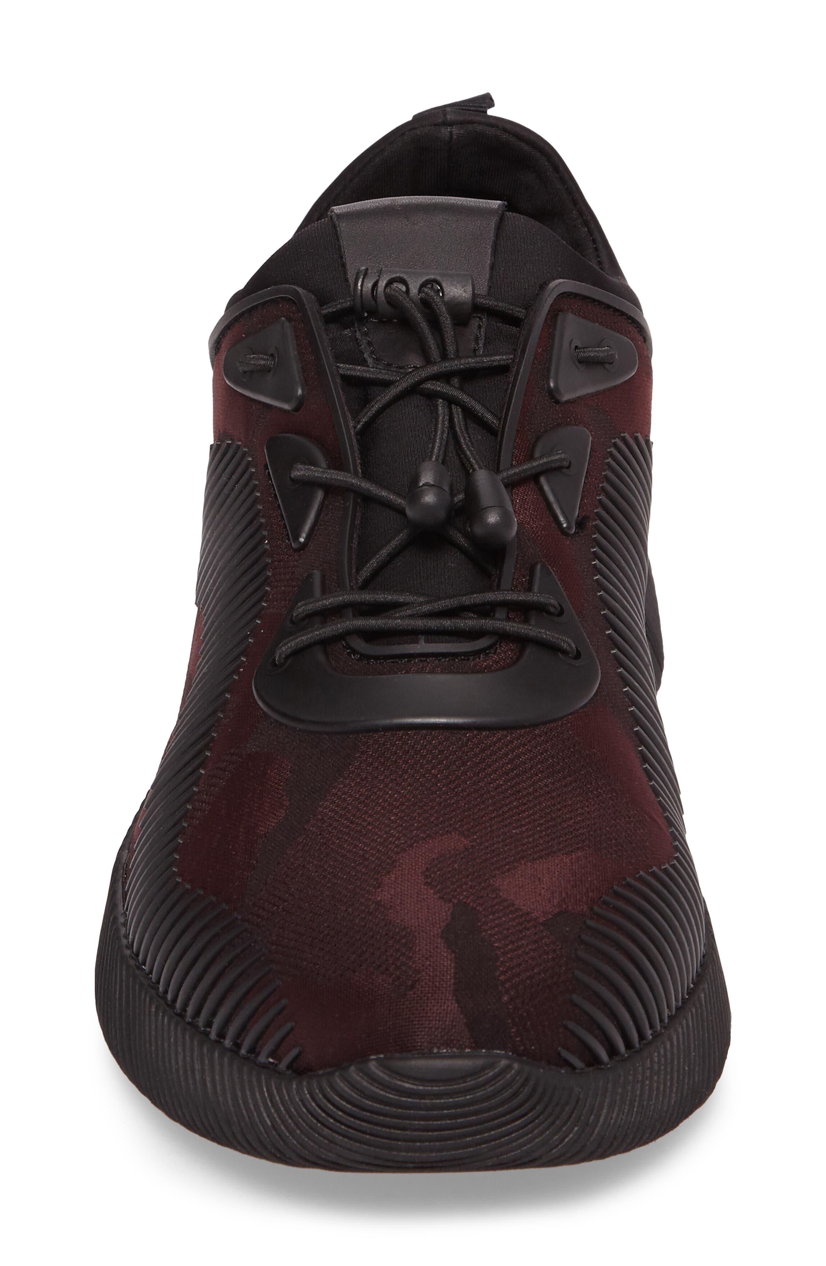 Sinch Sneaker,                             Alternate thumbnail 4, color,                             Bordeaux Fabric