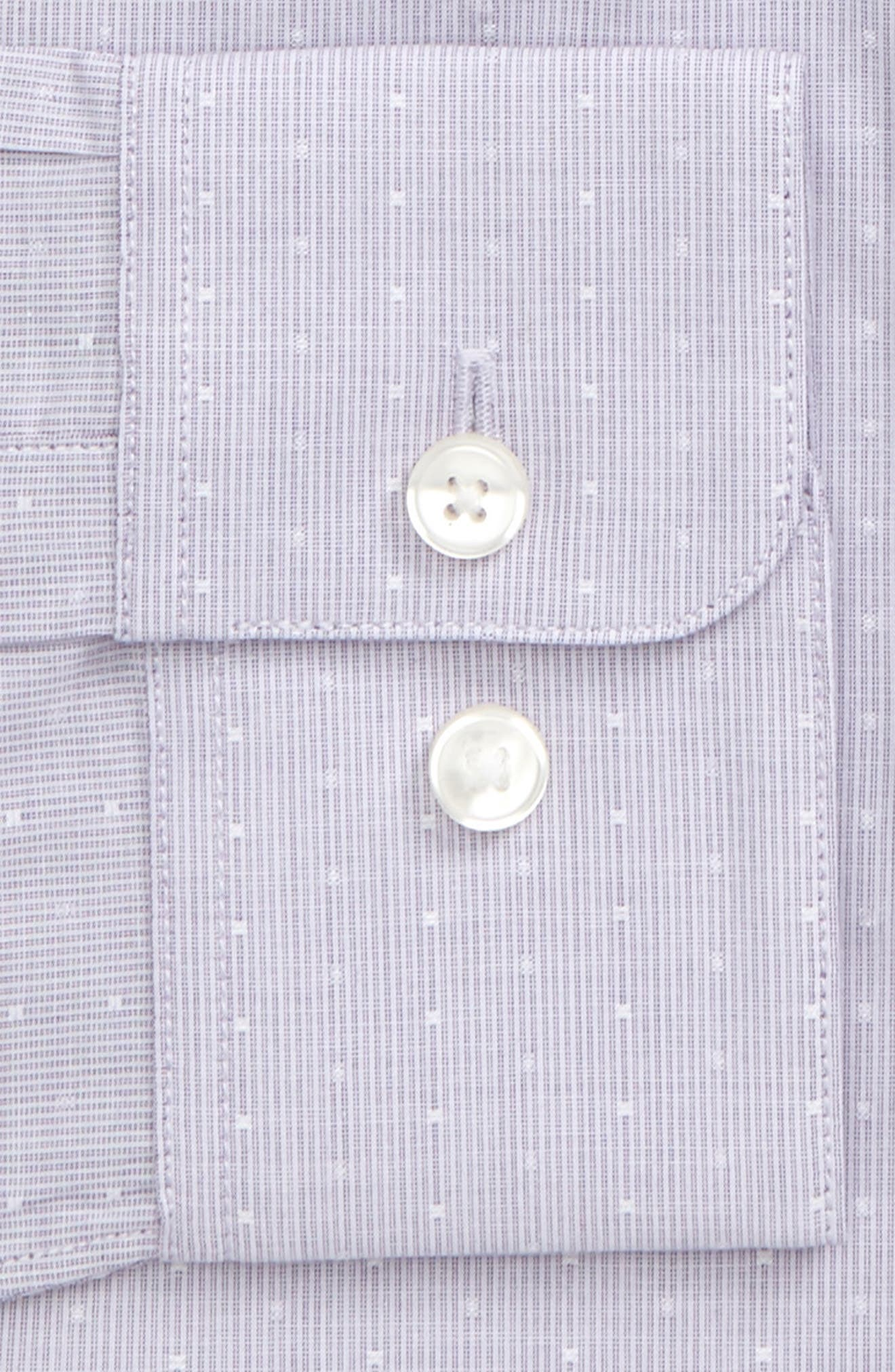 Slim Fit Stripe Dot Dress Shirt,                             Alternate thumbnail 2, color,                             Thistle