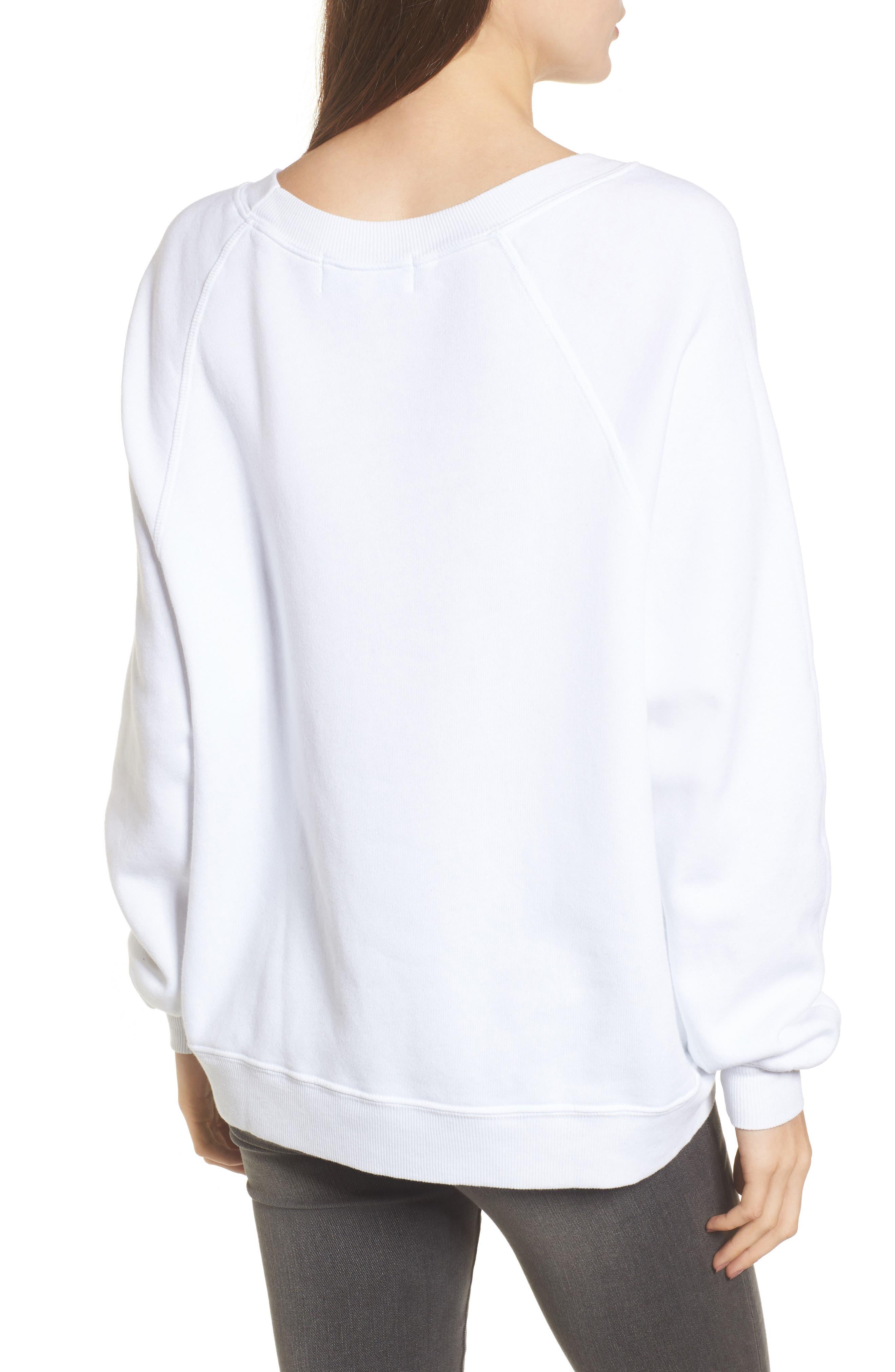 Alternate Image 2  - Wildfox Anti-Social Butterfly Sweatshirt