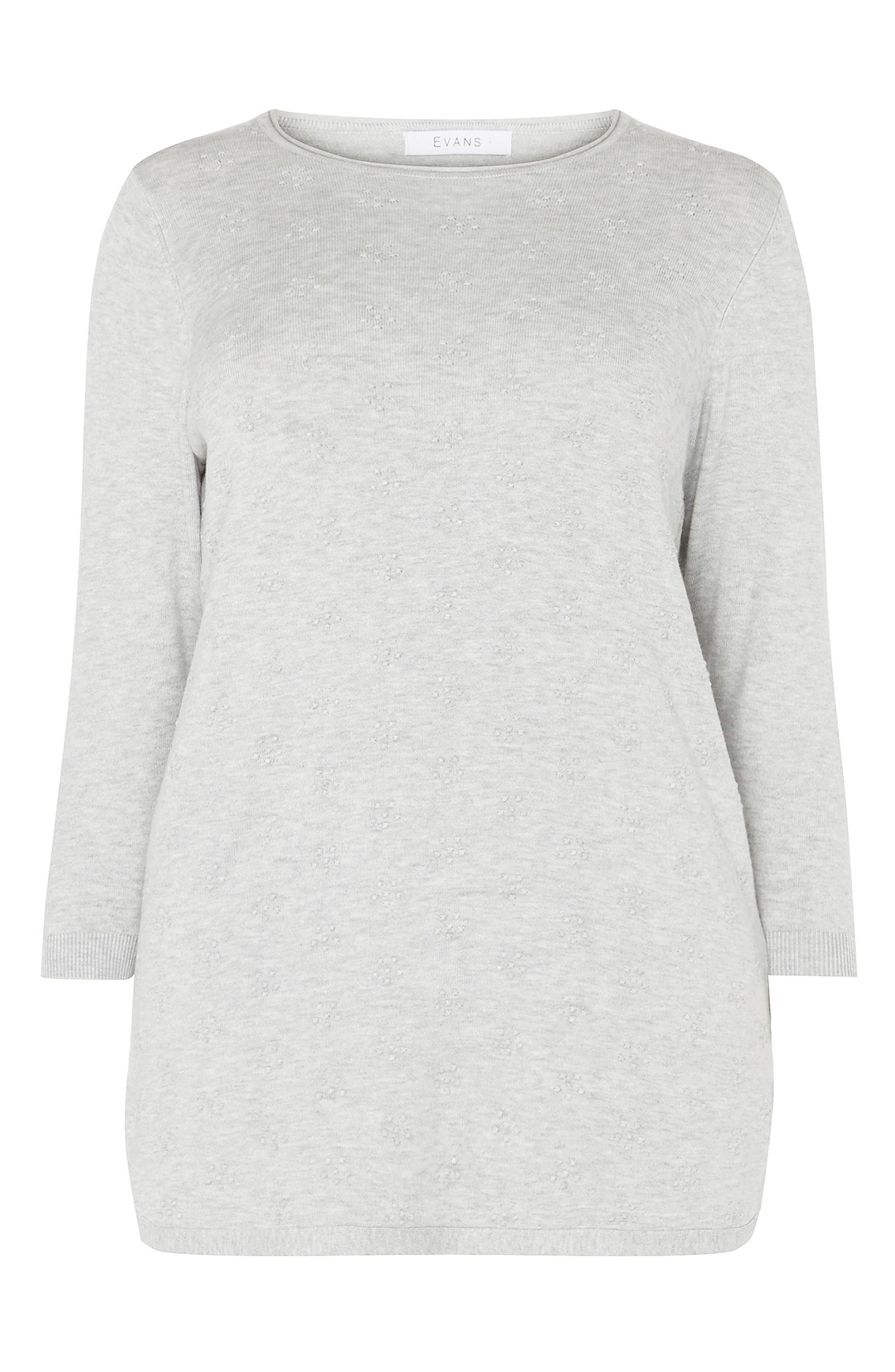 Dot Texture Sweater,                             Alternate thumbnail 4, color,                             Grey